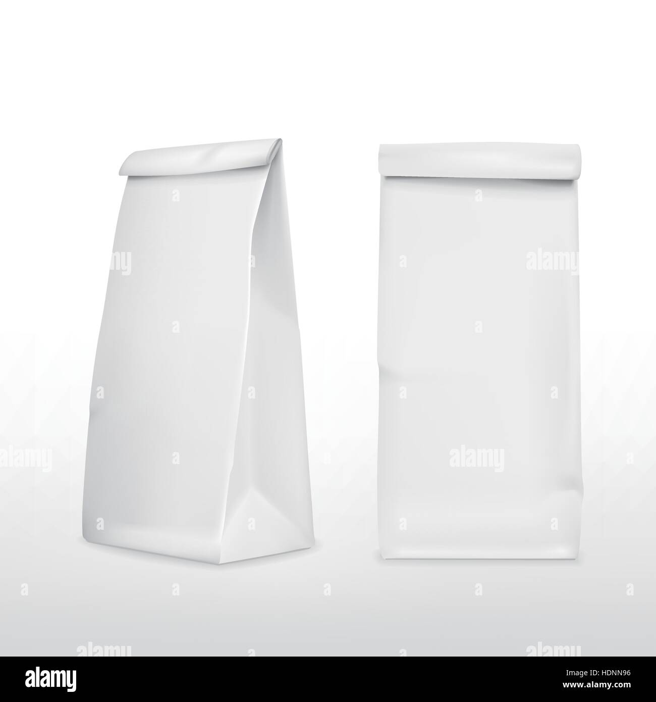 vector 3d blank paper bag template isolated on white background ...