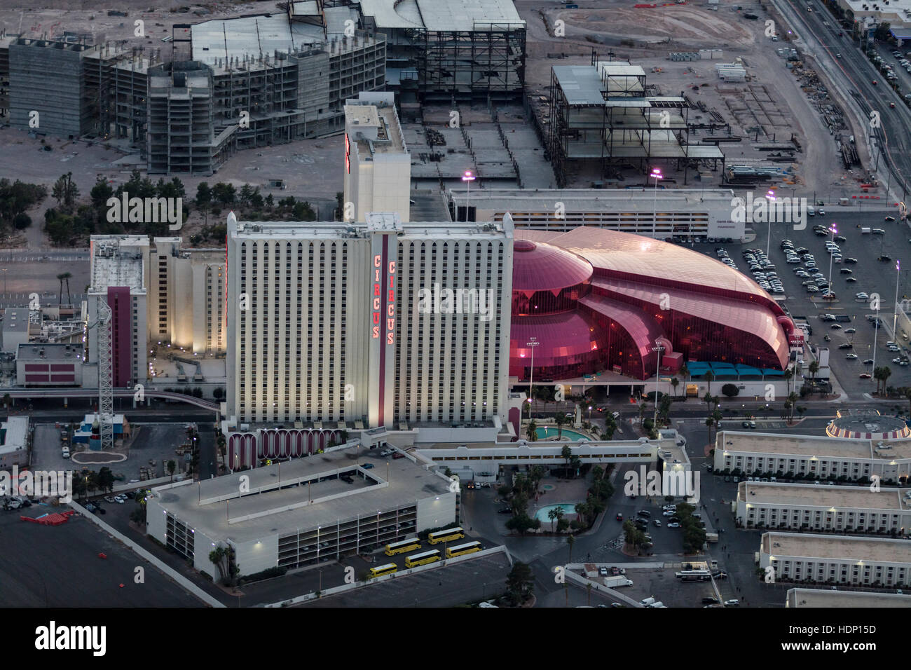 Aerial View Of Circus Circus Hotel The Strip Las Vegas
