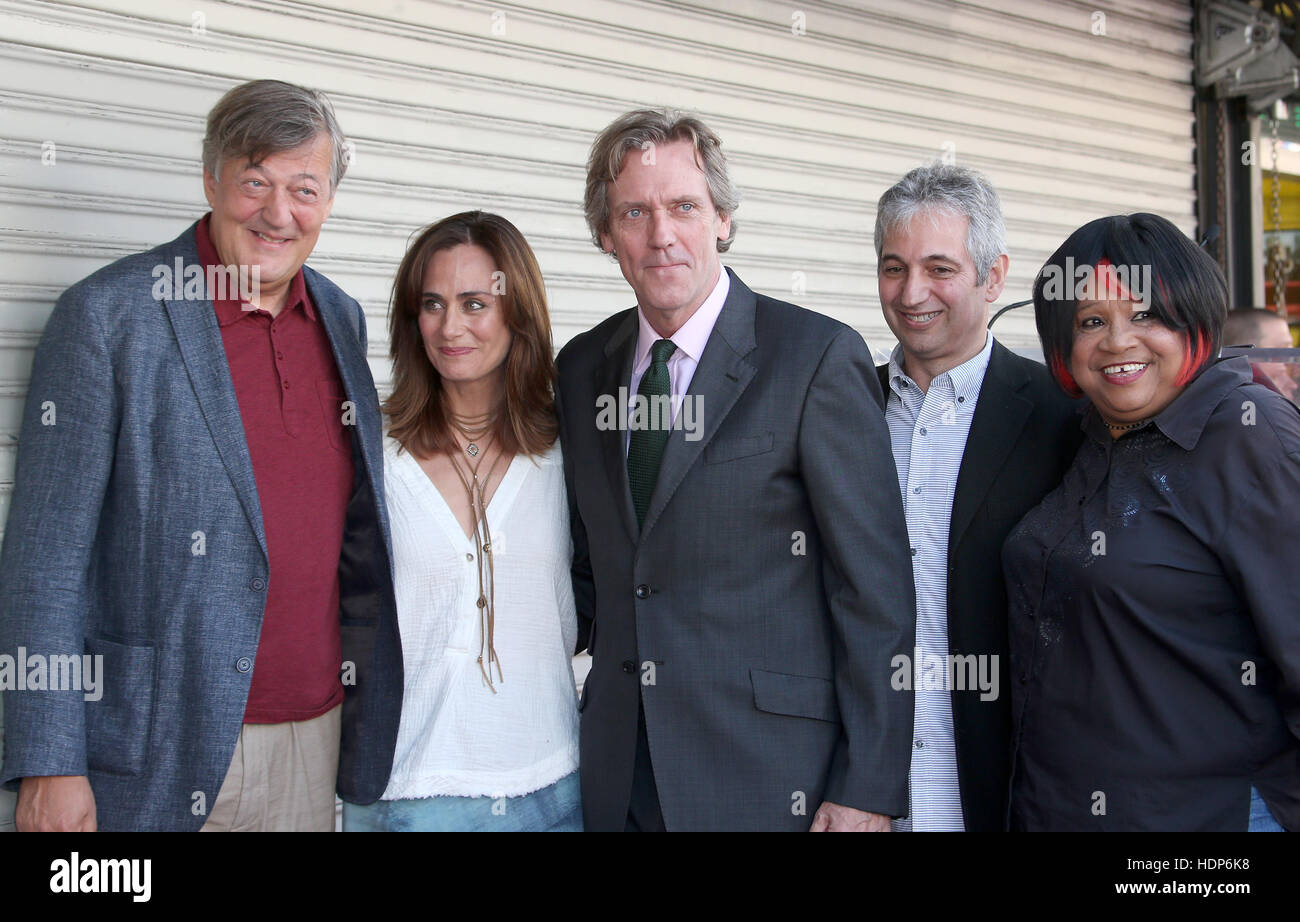 Hugh Laurie Honored With Star On The Hollywood Walk Of Fame  Featuring: Stephen Fry, Diane Farr, Hugh Laurie, Sista - Stock Image
