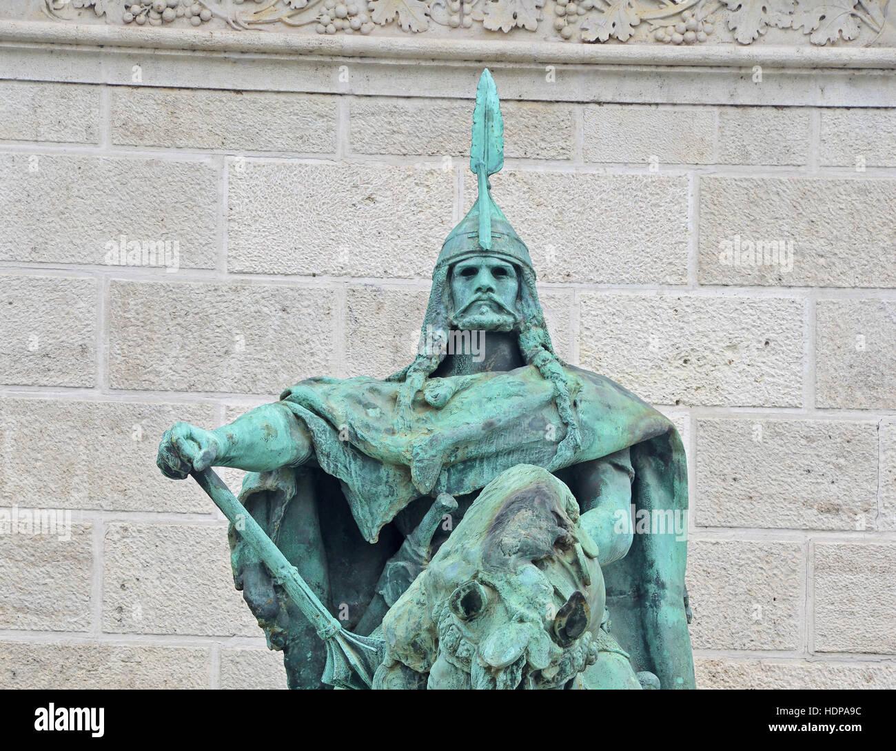 Arpad Magyar warrior heroes square Budapest Hungary Stock Photo