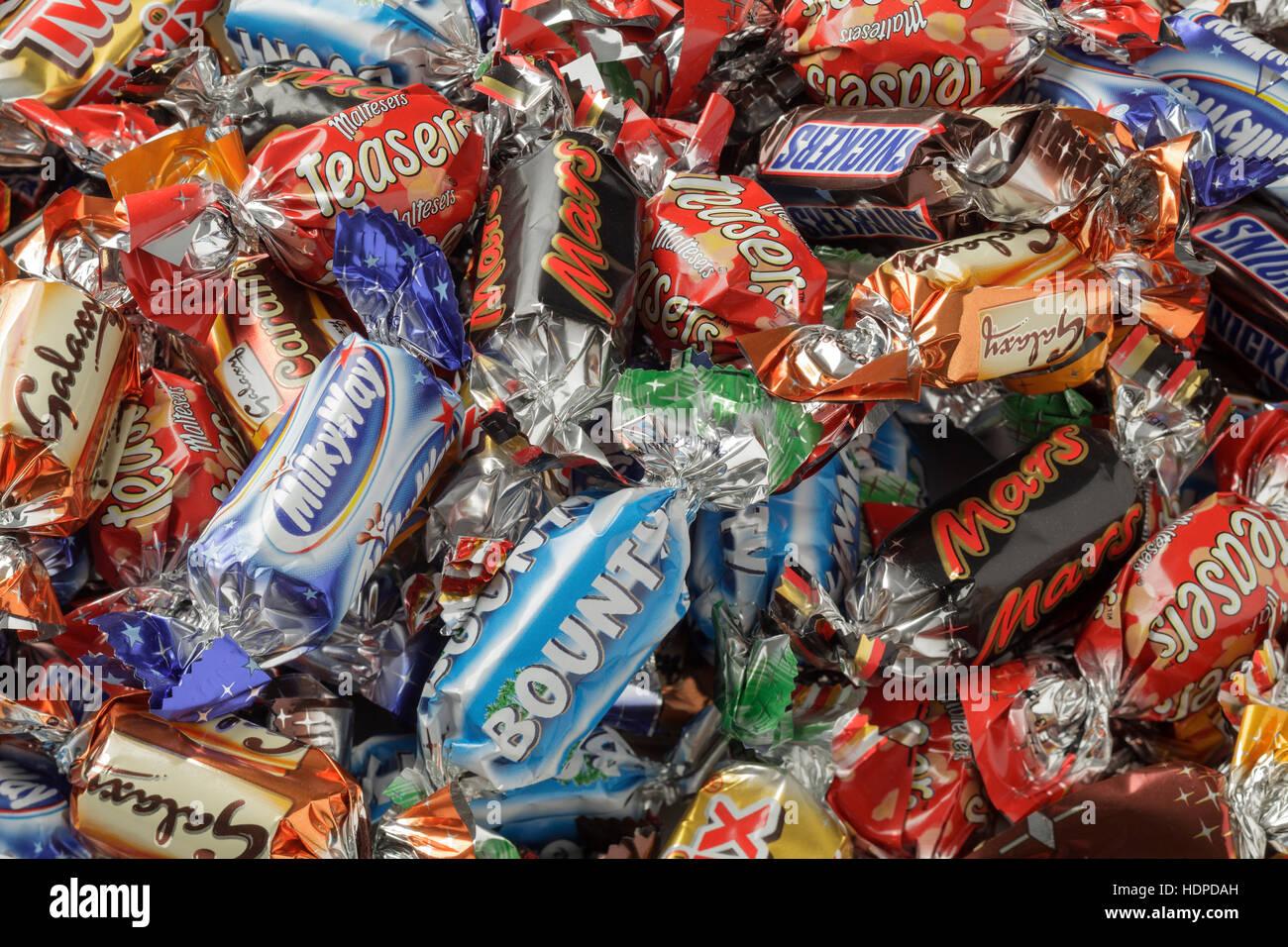 Celebrations chocolates - Stock Image