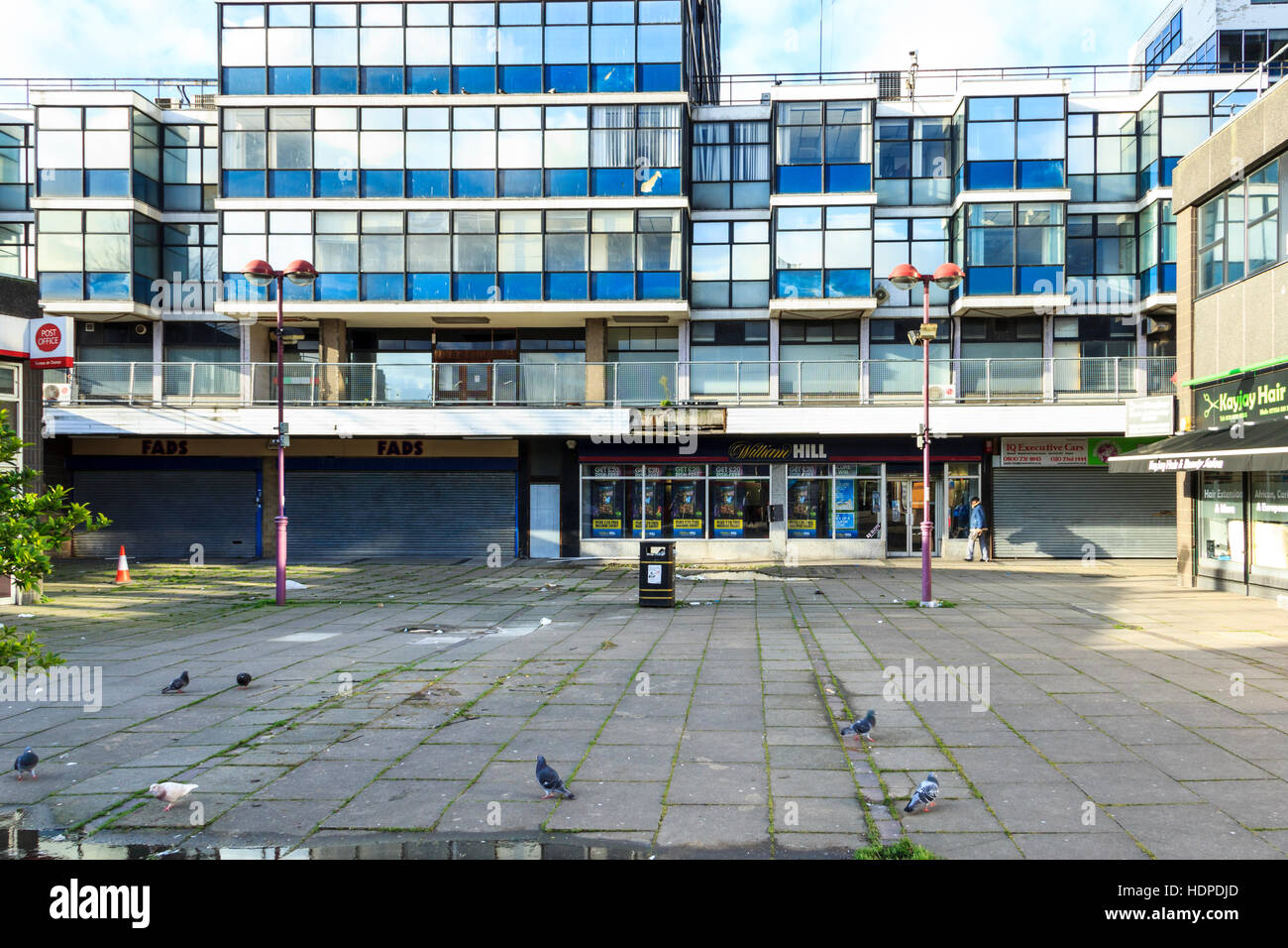 Archway Mall and the unoccupied Hill House before redevelopment by Bode, Islington, North London, UK - Stock Image