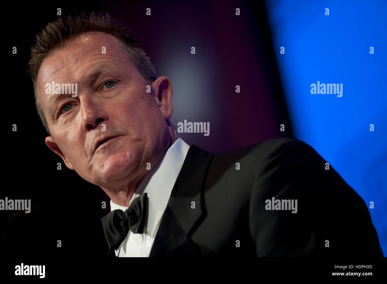Actor Robert Patrick speaks to guests during the United Service Organization (USO) Gala at the Marriott Wardman - Stock Image