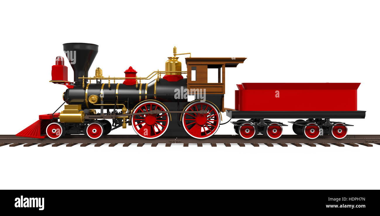 Old Locomotive Train - Stock Image
