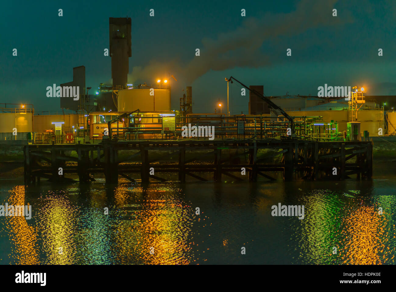 Inter Terminal Jetty at Seal Sands, Middlesbrough, Cleveland, UK - Stock Image