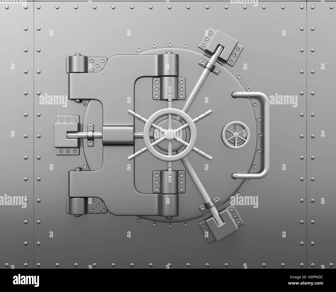 Close Bank Vault Door - Stock Image