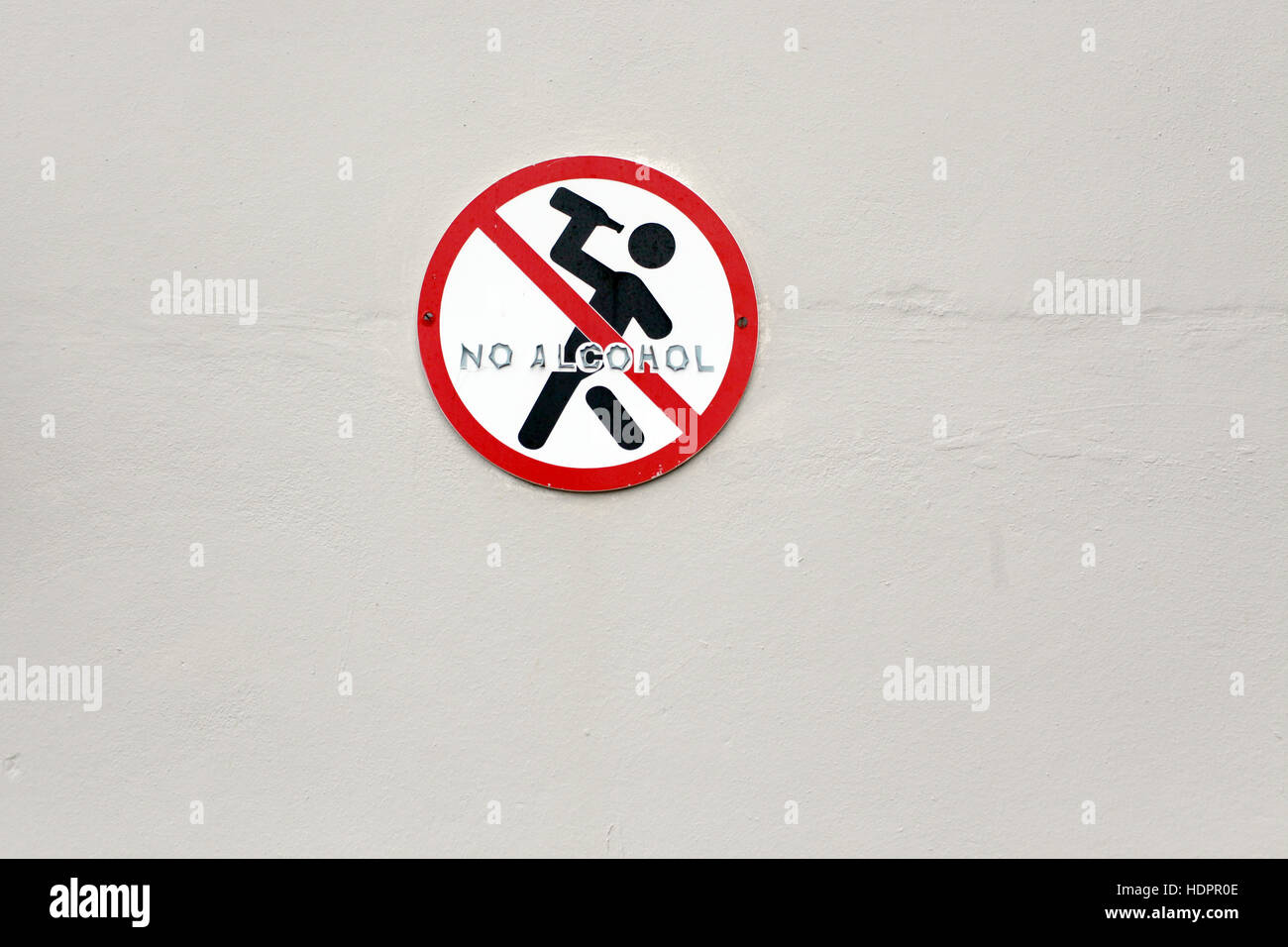 No Alcohol consumption sign - Stock Image