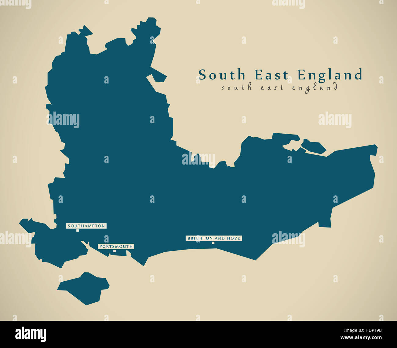 South East Of England Map.Modern Map South East England Uk Illustration Stock Photo