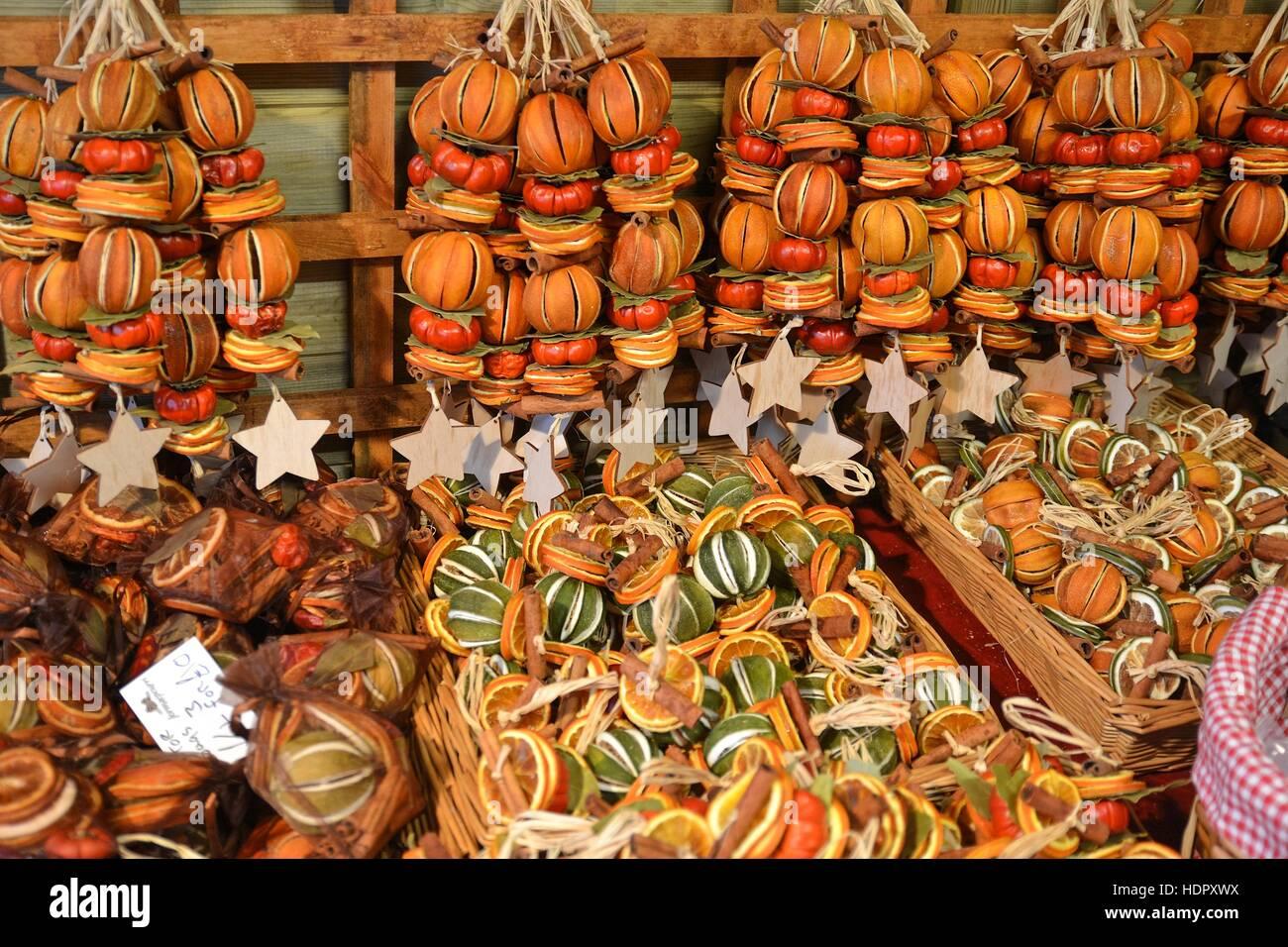 Dried Orange Christmas Garlands At Waddesdon Manor Christmas Market