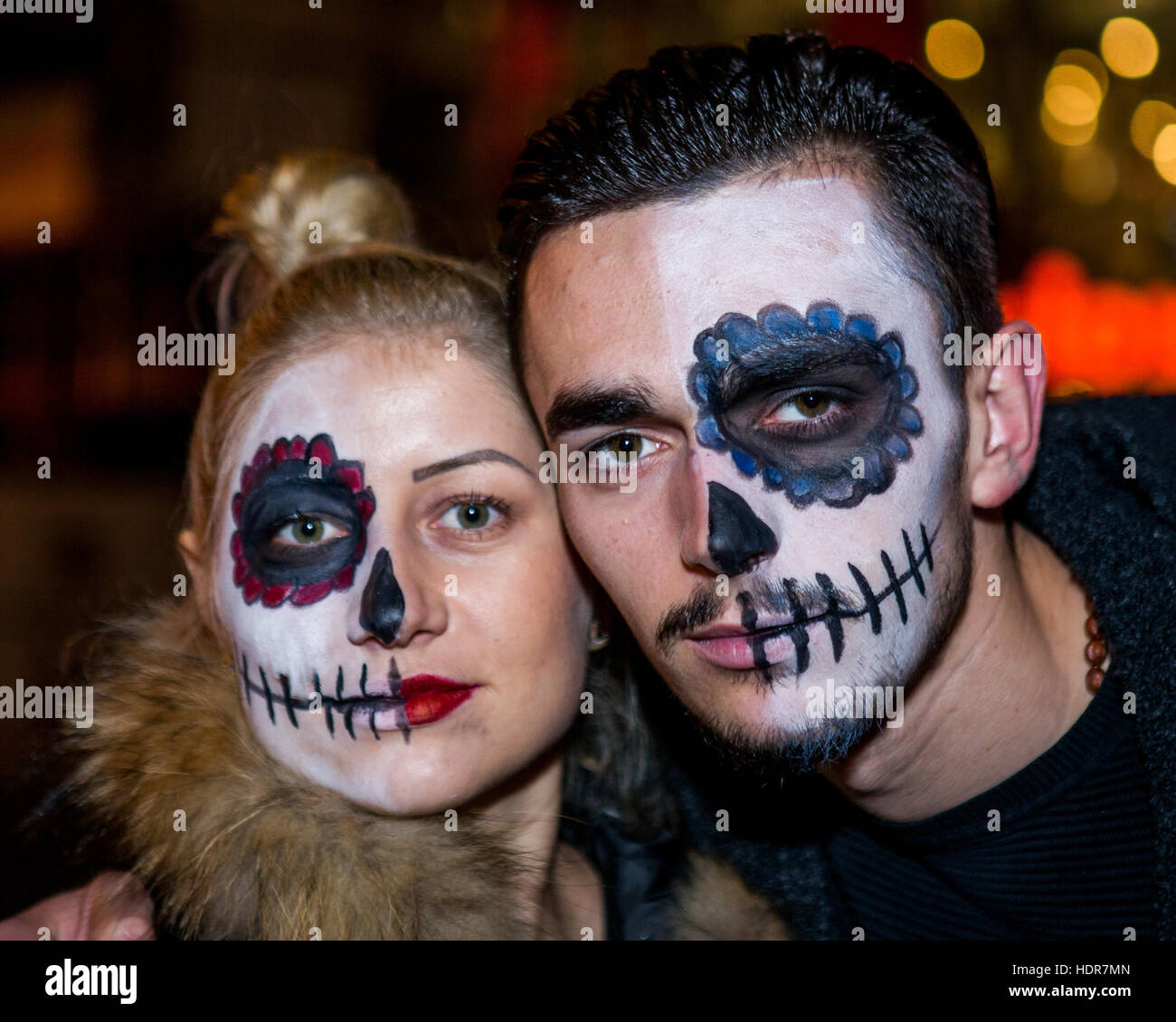 People dressed up for Halloween night on Old Compton Street 343a3dad8c24