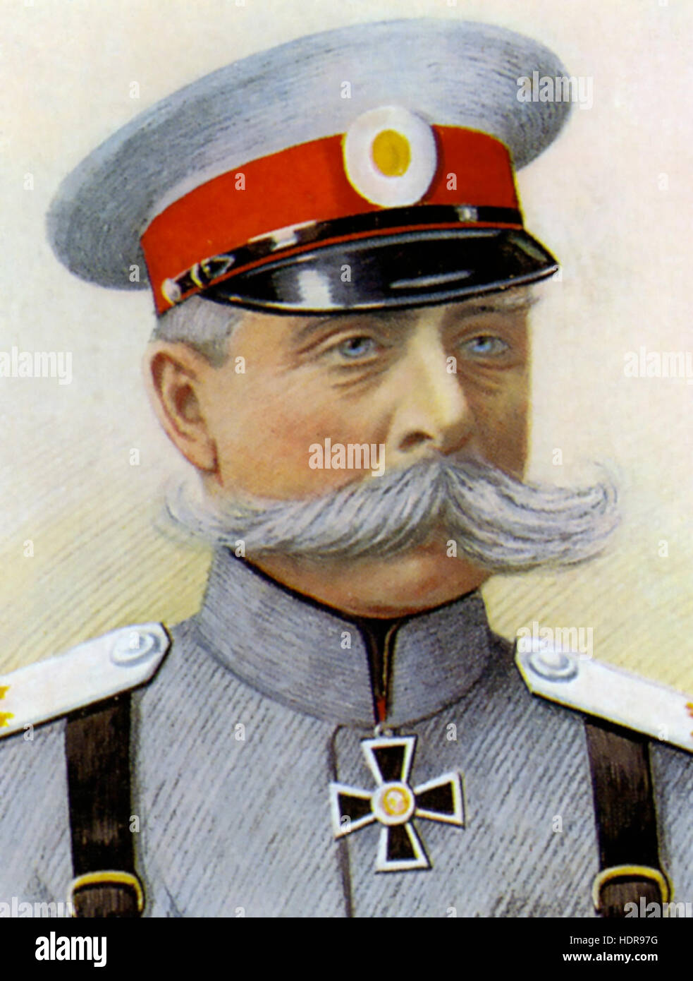 PAUL von RENNENKAMPF (1854-1918) as a General in the Imperial Russian Army - Stock Image