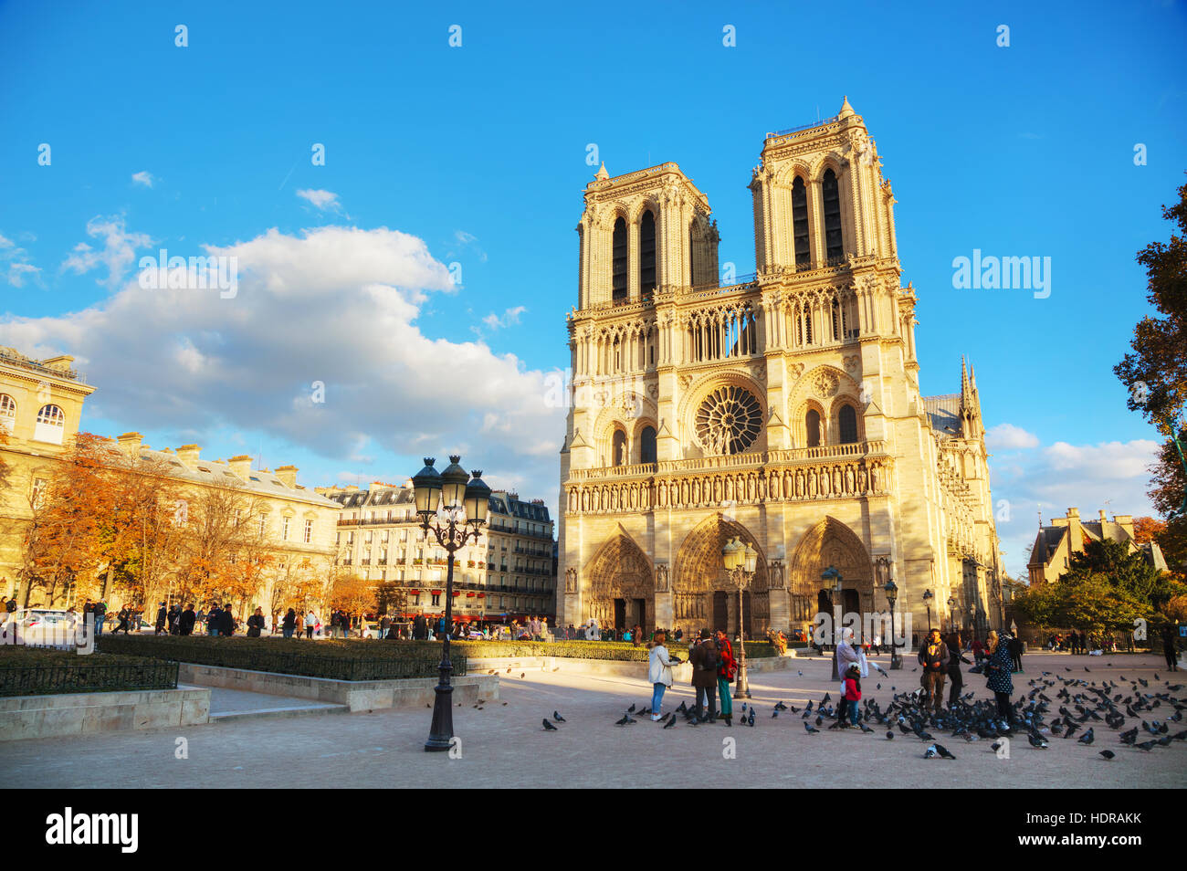 PARIS - NOVEMBER 2: Notre Dame de Paris cathedral on November 2, 2016 in Paris, France. It's the finest example - Stock Image