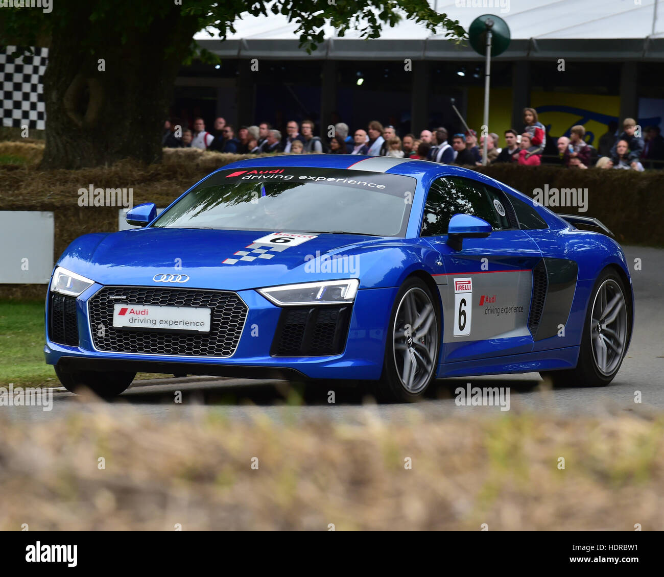 Audi R8 V10 Plus, Goodwood Festival of Speed, 2016. automobiles, cars, entertainment, Festival of Speed, FoS, Full - Stock Image