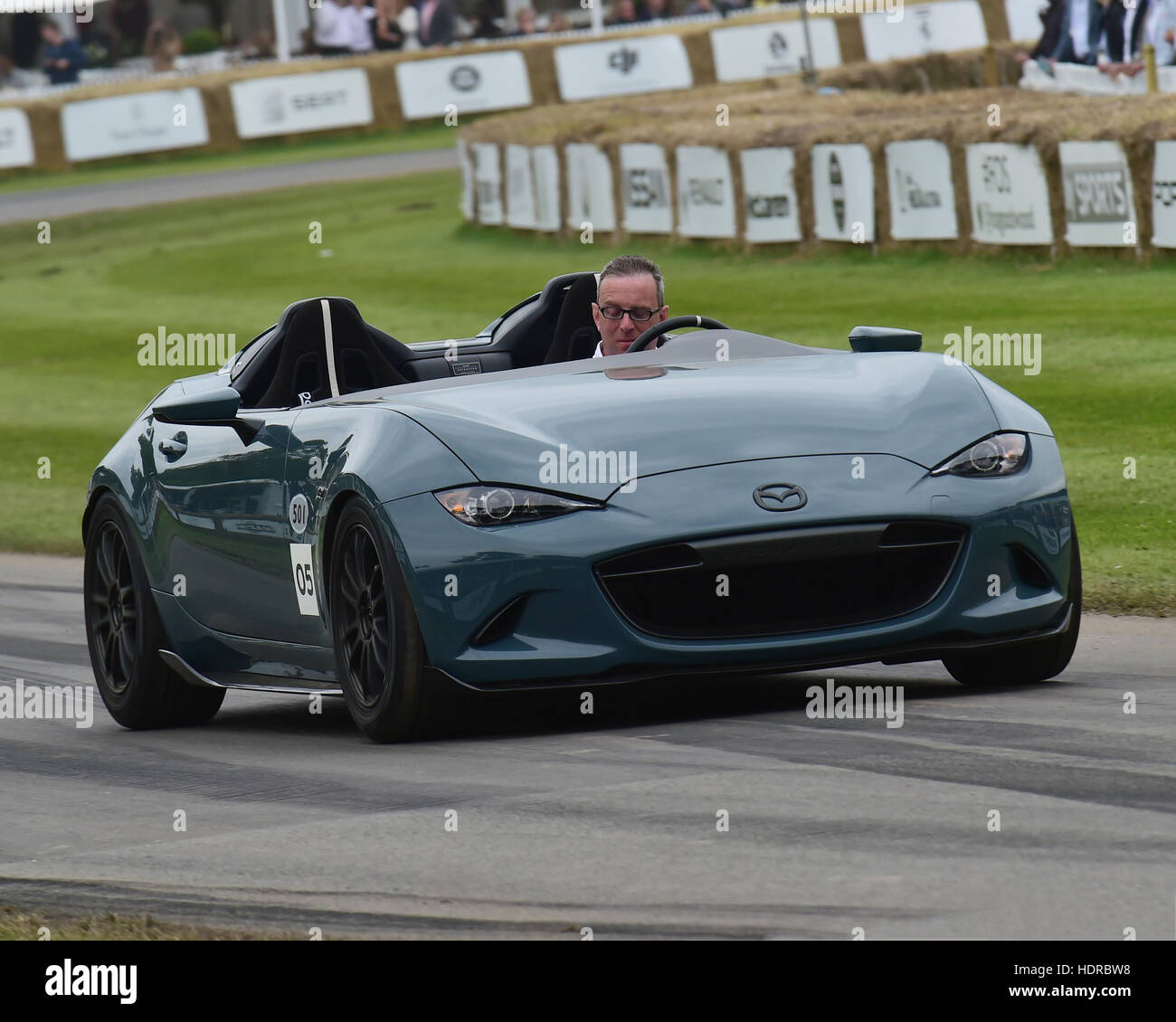 Mazda MX-5 RF, Goodwood Festival of Speed, 2016. automobiles, cars, entertainment, Festival of Speed, FoS, Full - Stock Image
