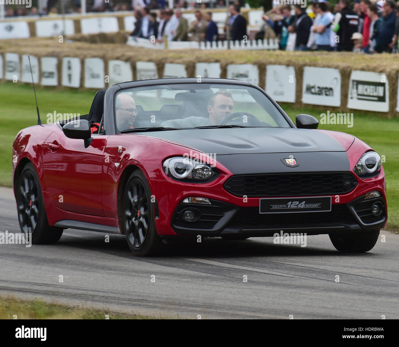 FIAT 124 Abarth Spider, Goodwood Festival of Speed, 2016. automobiles, cars, entertainment, Festival of Speed, FoS, - Stock Image
