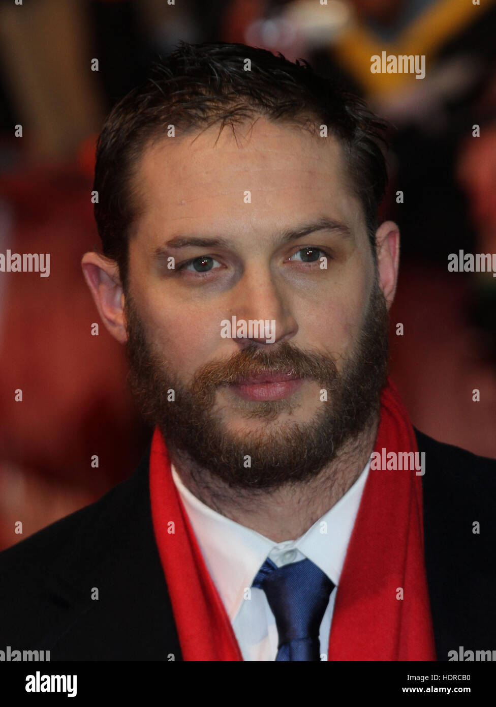 London, UK, 30/01/2012 Tom Hardy arrives for the This Means War - UK Premiere in London - Stock Image