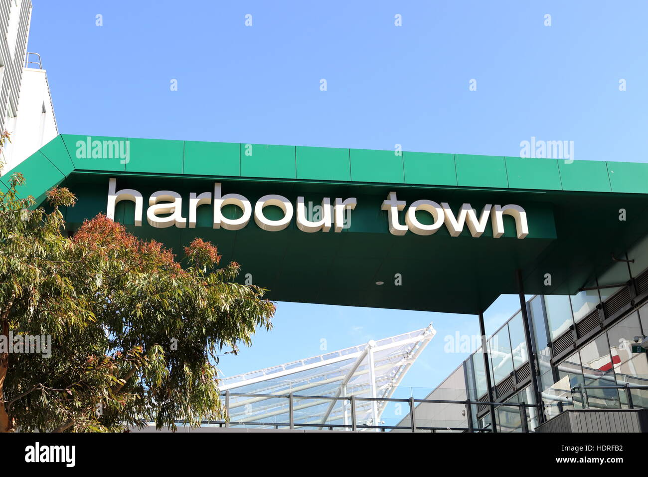 Harbour Town shopping district in Docklands Melbourne Victoria Australia - Stock Image