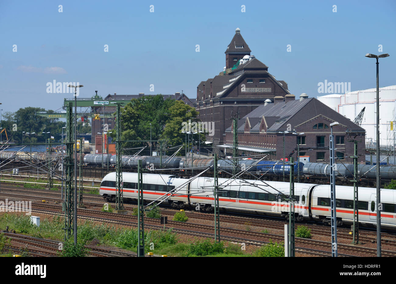 ICE, Lagerhaus, Behala, Westhafen, Moabit, Berlin, Deutschland Stock Photo