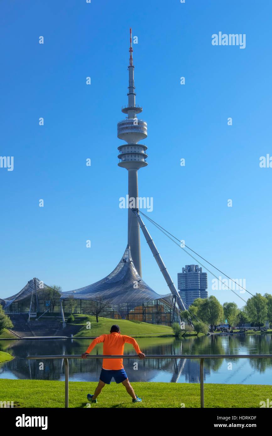 Munich Olympic park - Stock Image