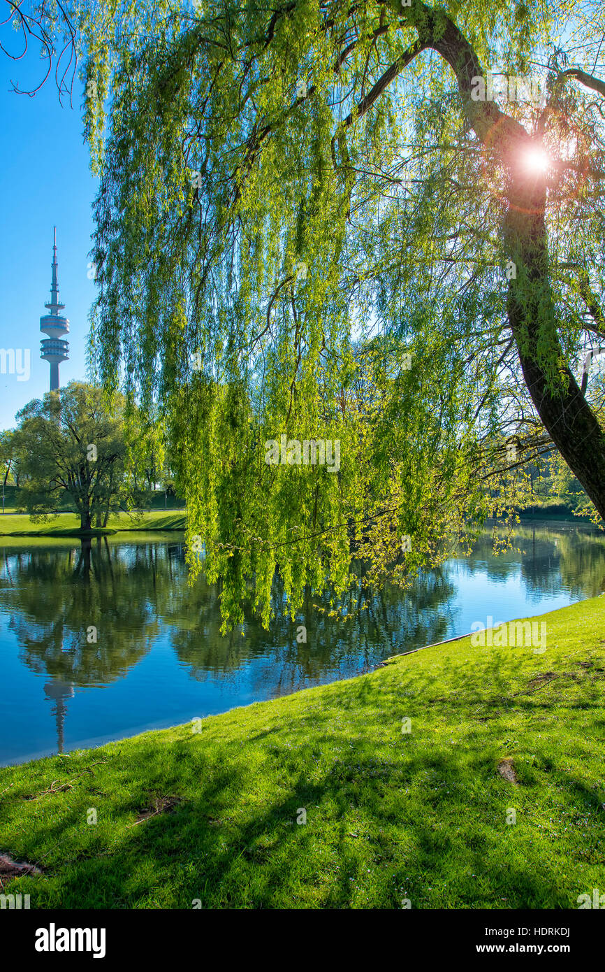 Olympic Park  in Munich - Stock Image
