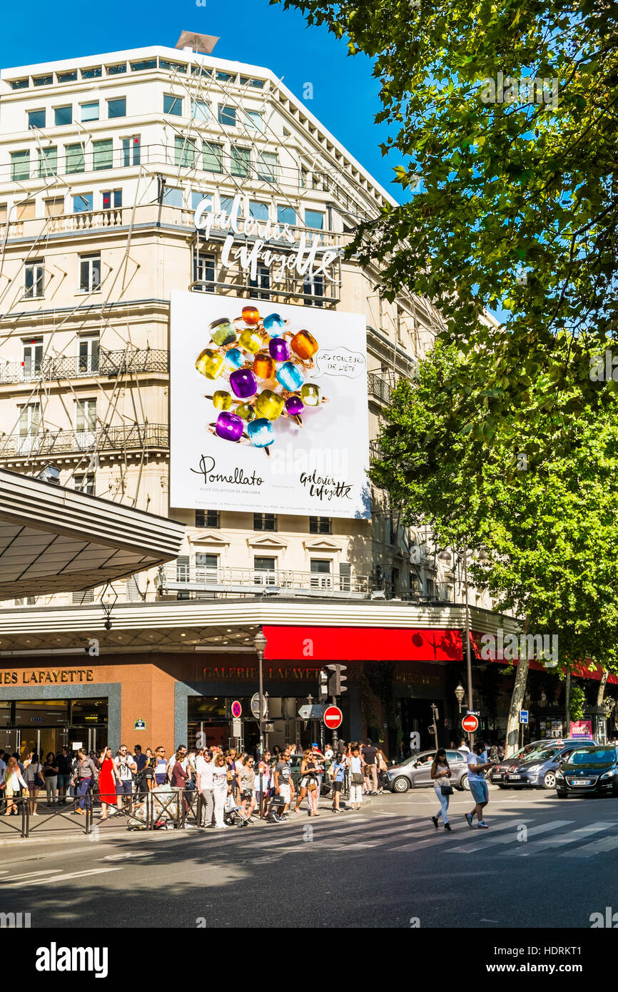 galeries lafayettes department store - Stock Image