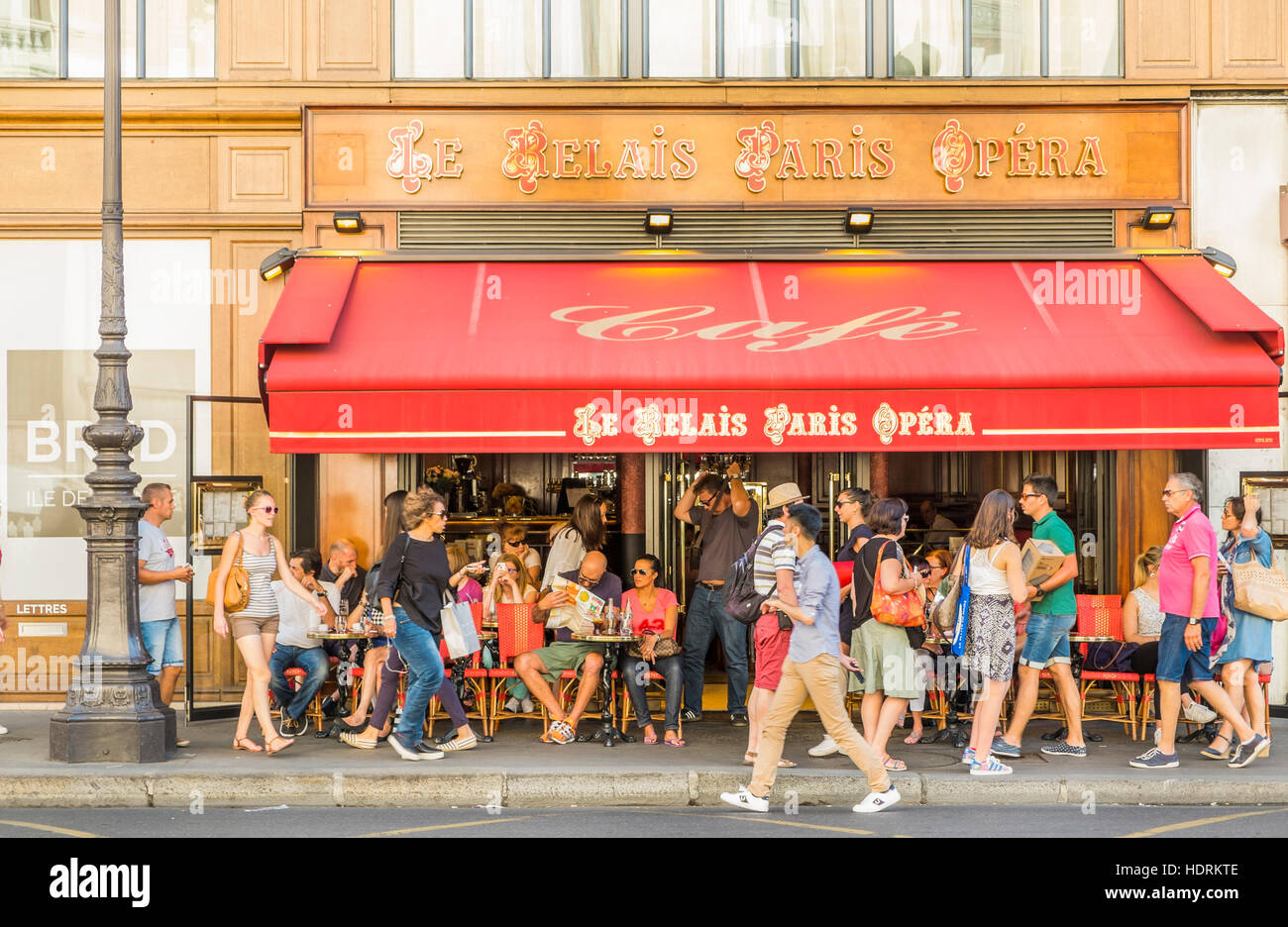 cafe le relais paris opera, outside view Stock Photo