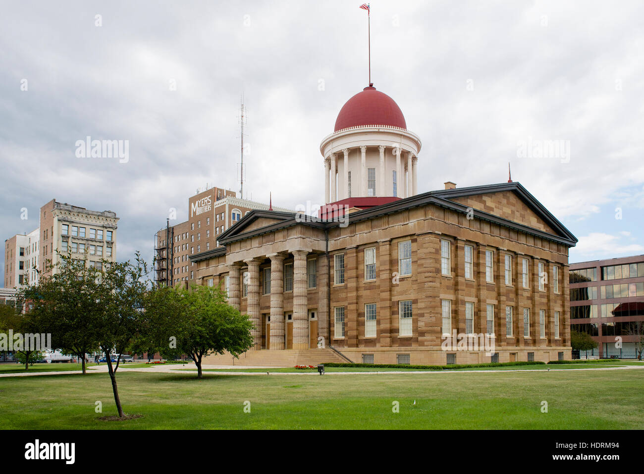 Old State Capitol, Springfield, Sangamon County, Illinois, USA - Stock Image