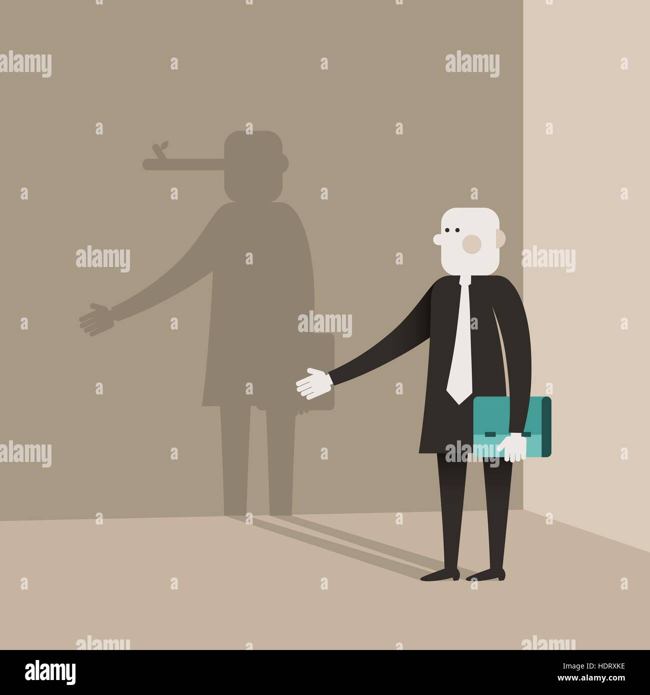 flat design vector illustration concept of liar - Stock Vector