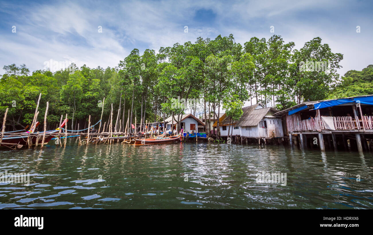 Koh Muk pier Thailand Stock Photo