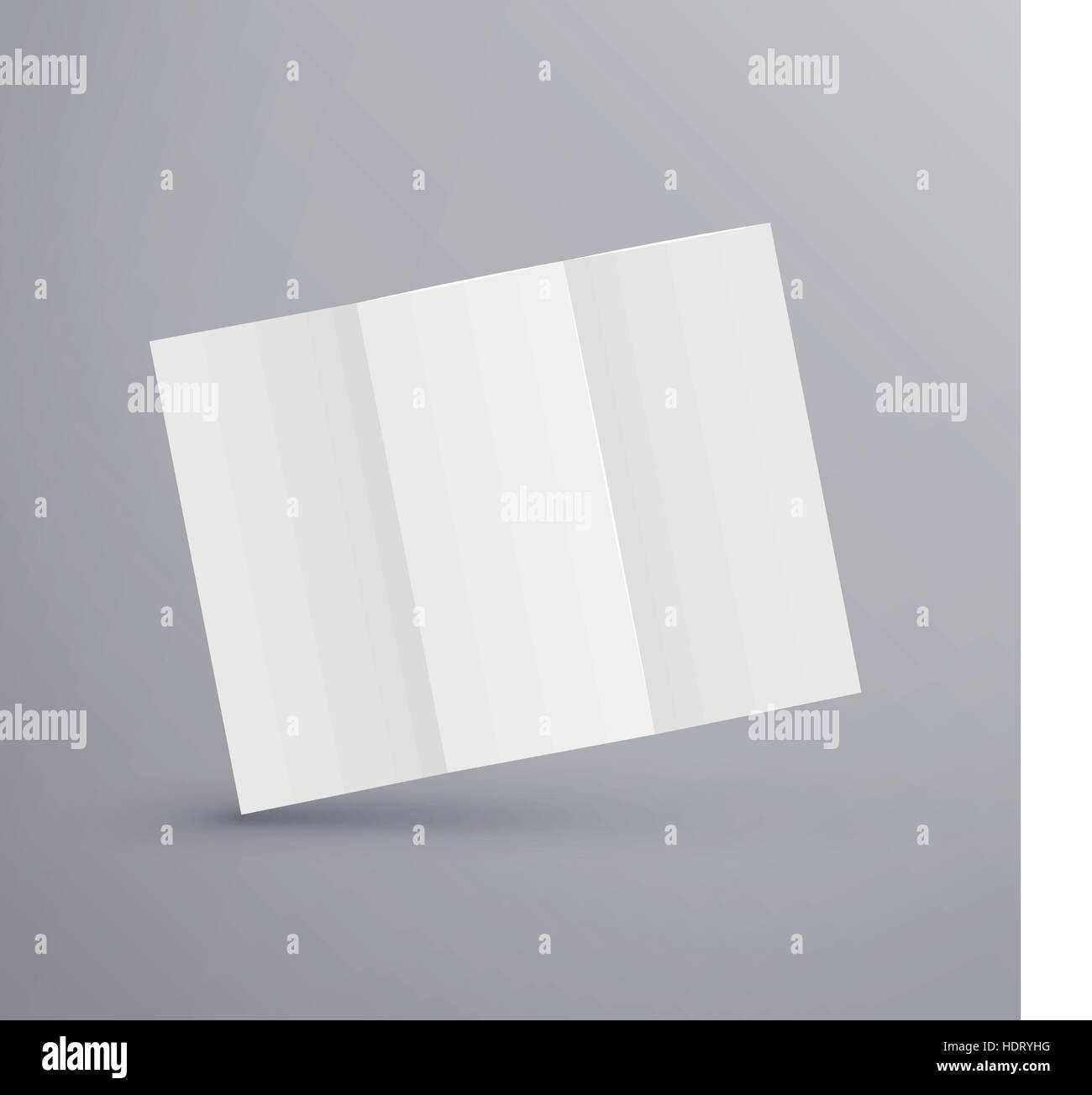 Paper Blank Brochure Template Isolated On Grey Stock Vector Art
