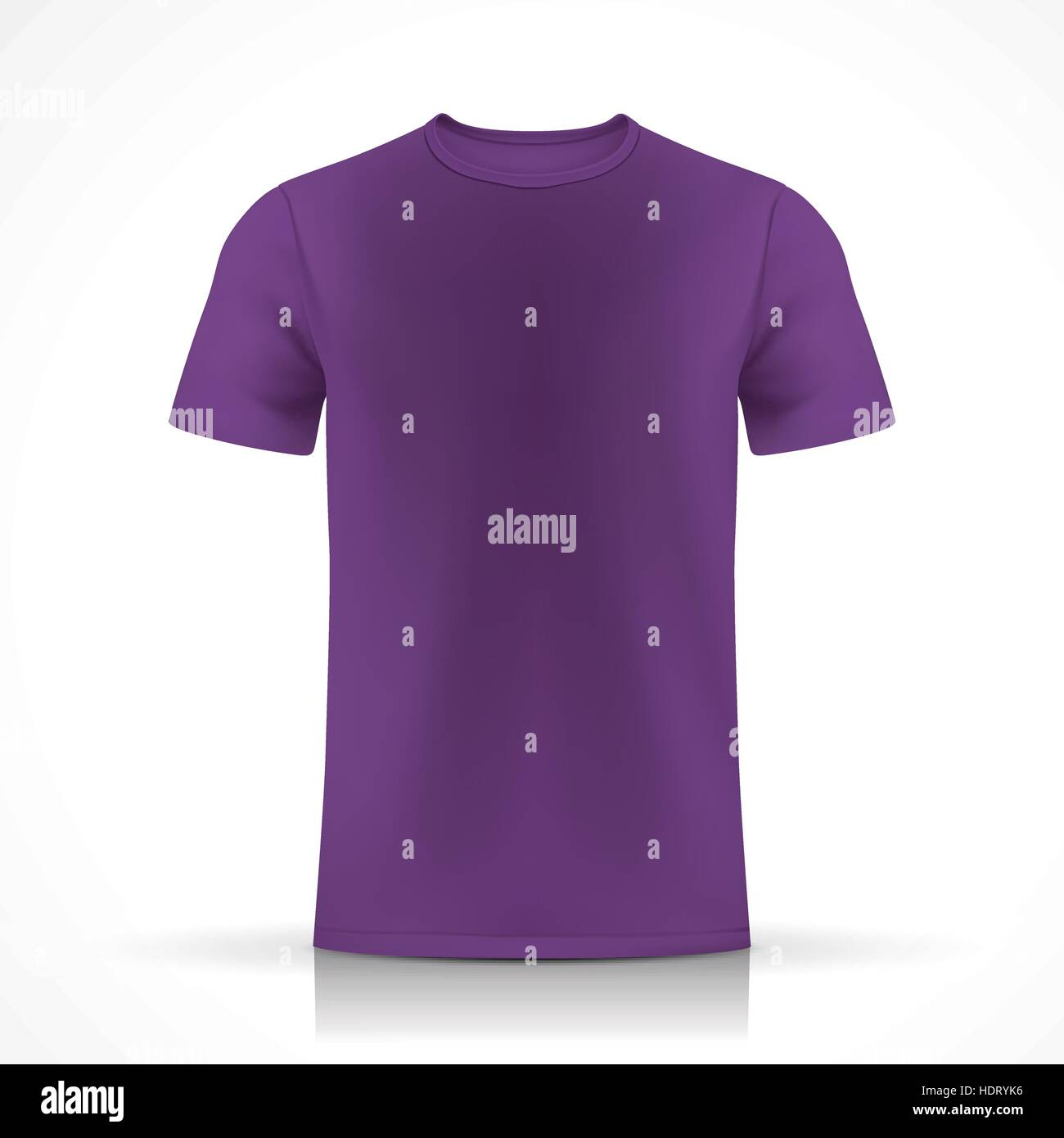 purple T-shirt template isolated on white background Stock Vector ...