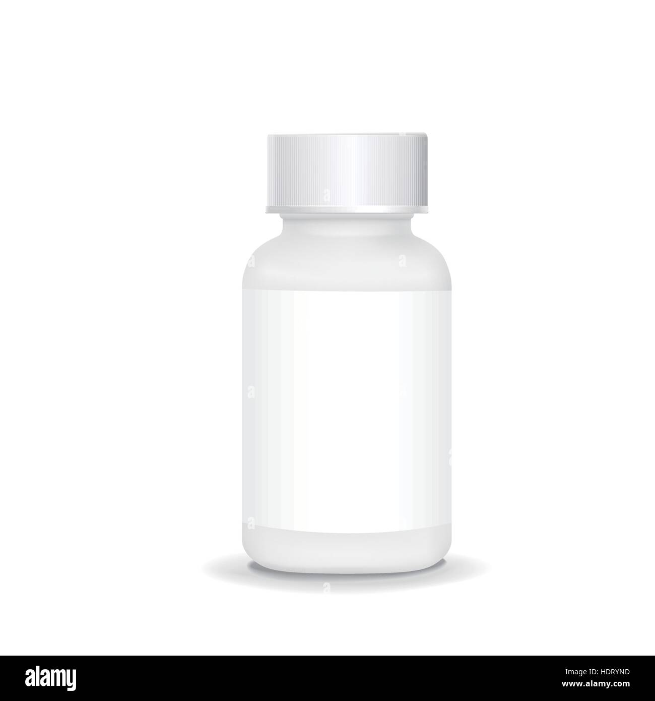 white plastic medical container isolated on white background - Stock Vector