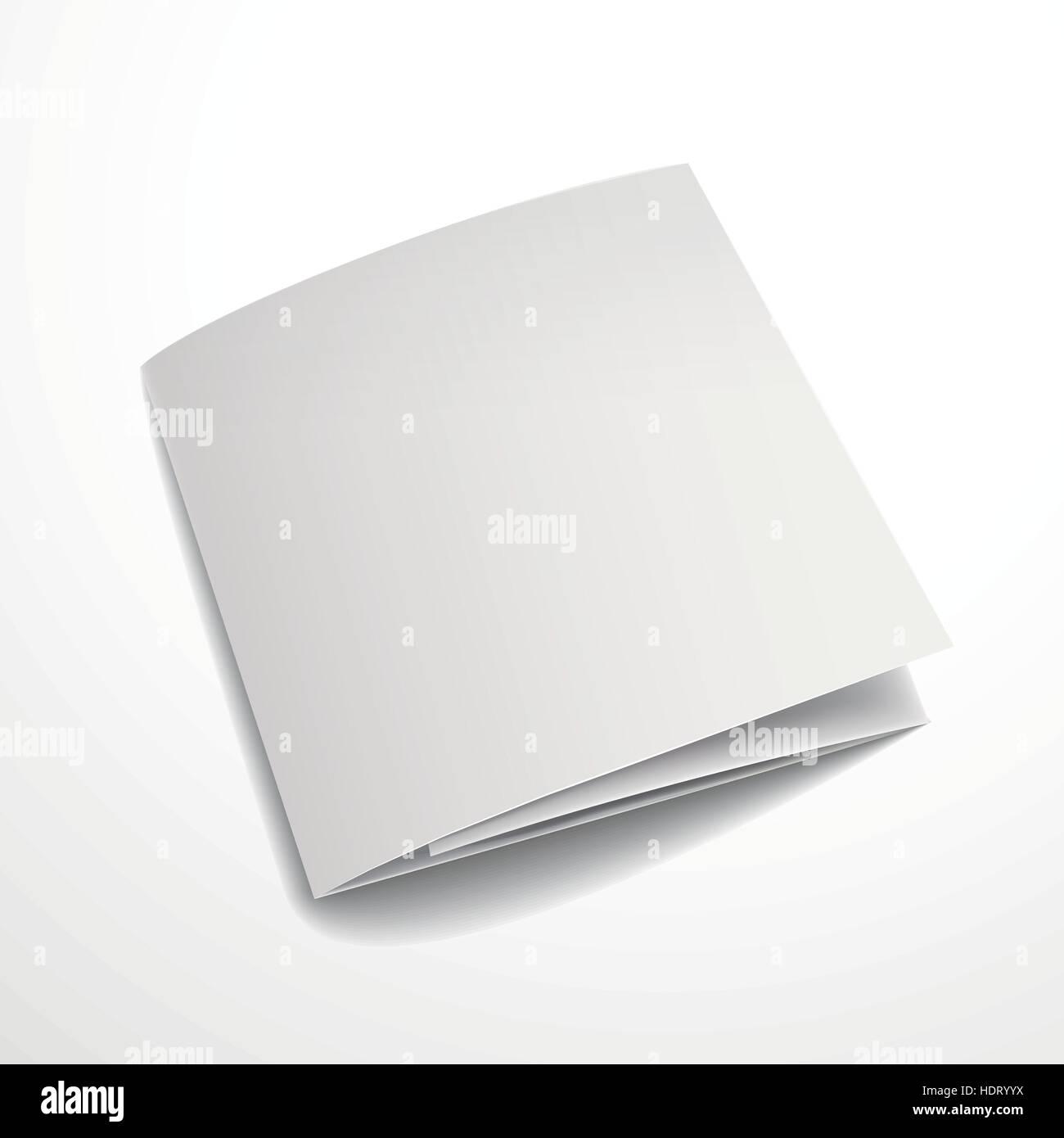 blank tri fold brochure design isolated on white stock vector art