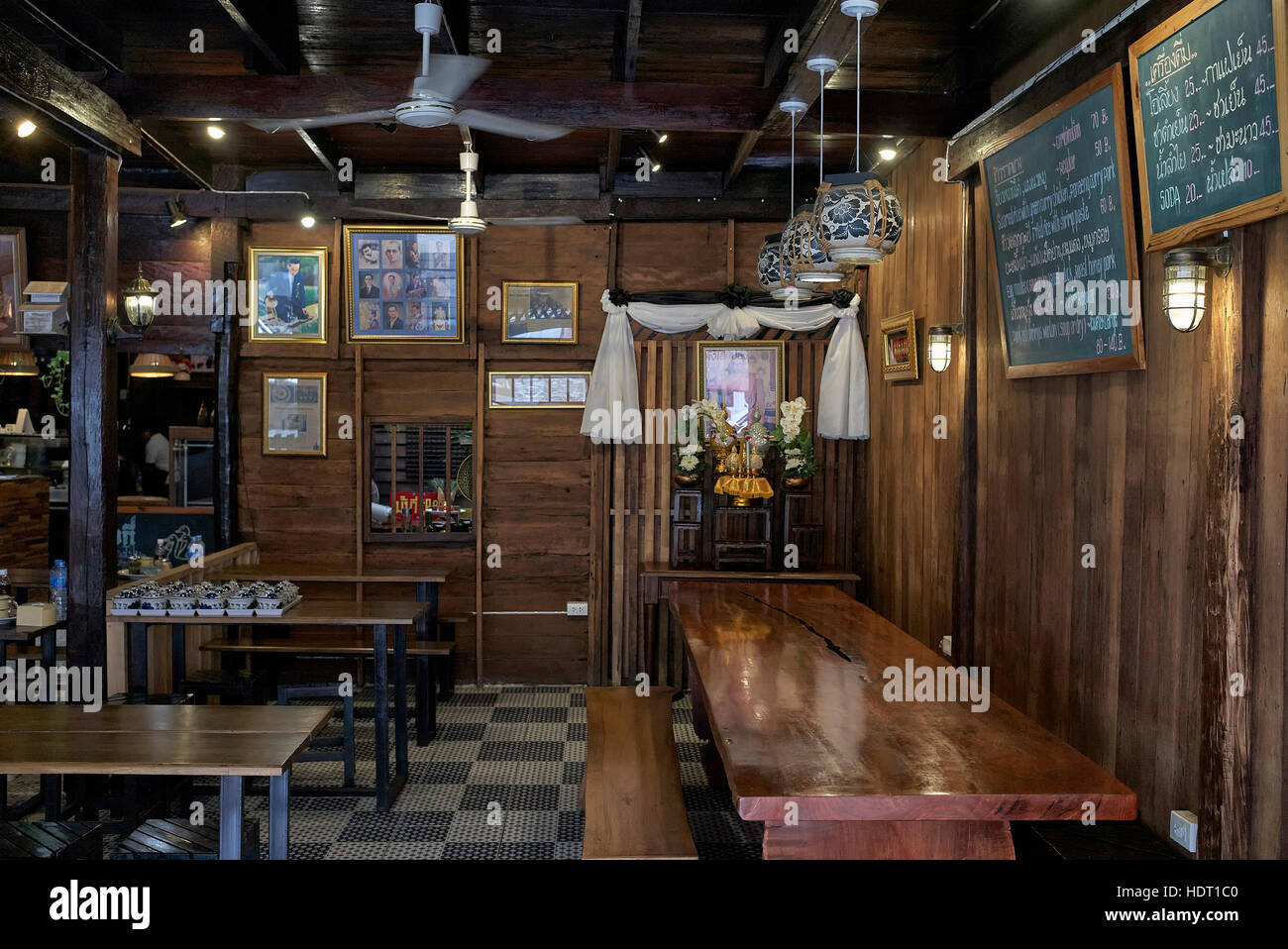 Interior View Of A Traditional Wooden Clad Vintage Style