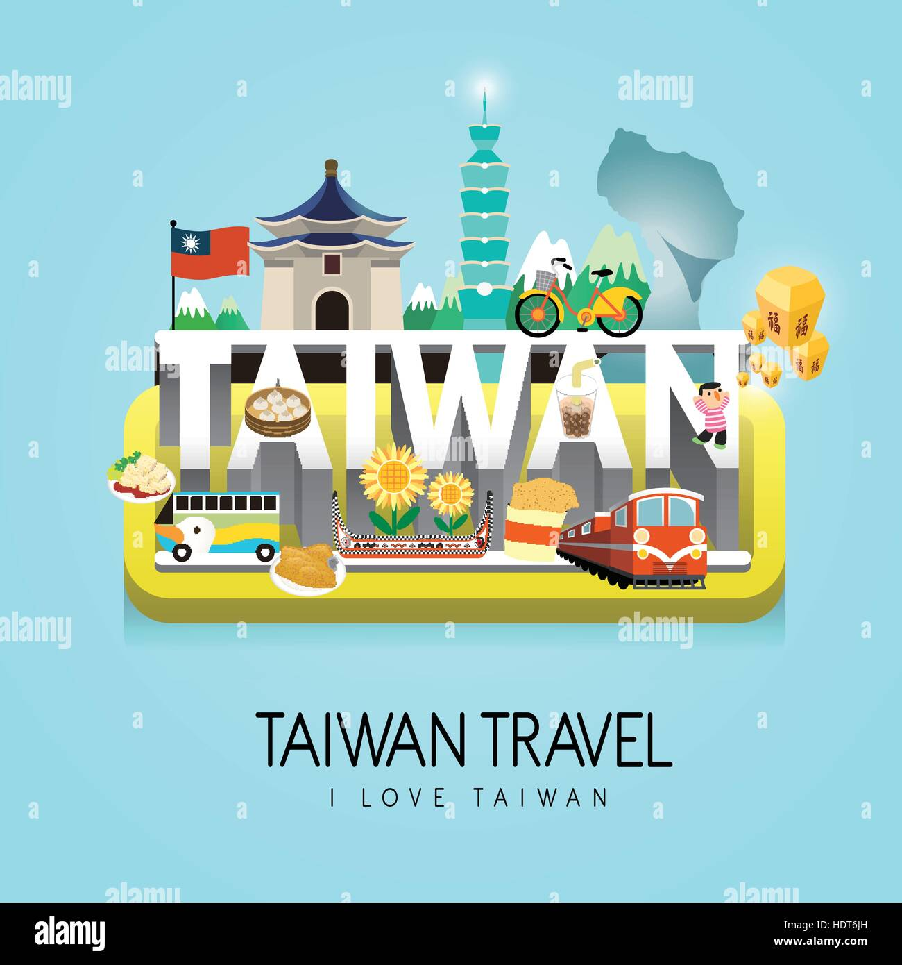 Taiwan Travel Concept Poster