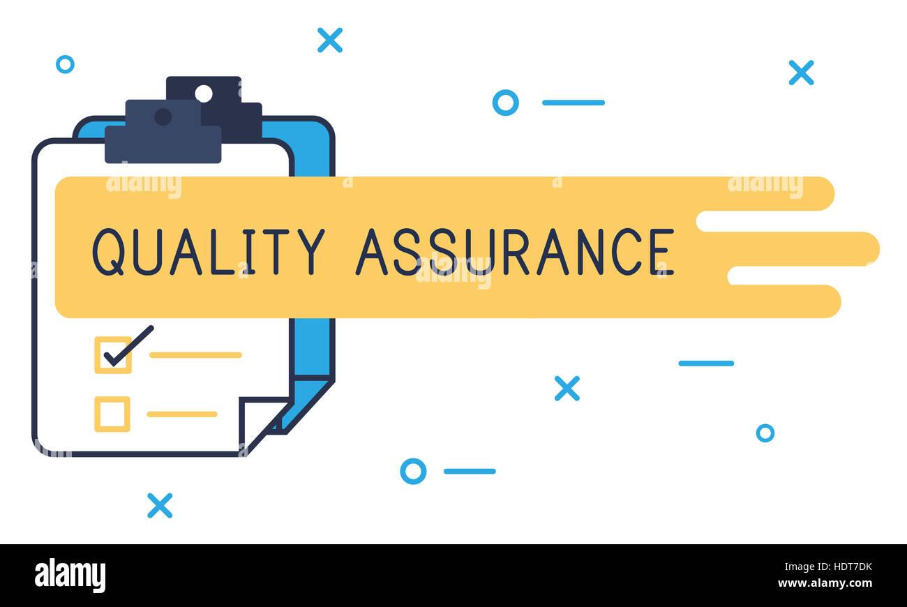 Quality Assurance Guarantee Warranty Trustworthy Concept - Stock Image