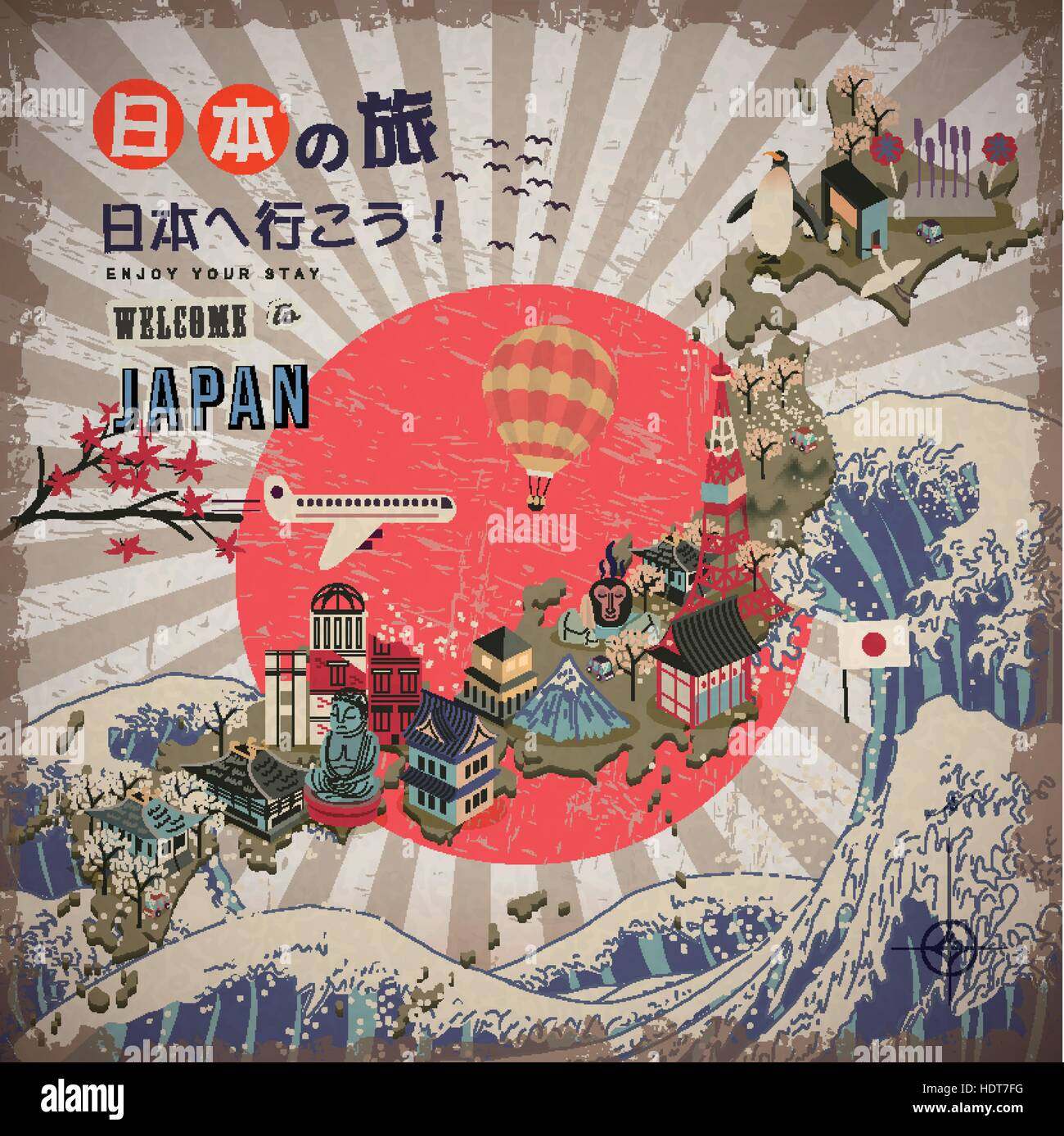 lovely Japan travel map Go to