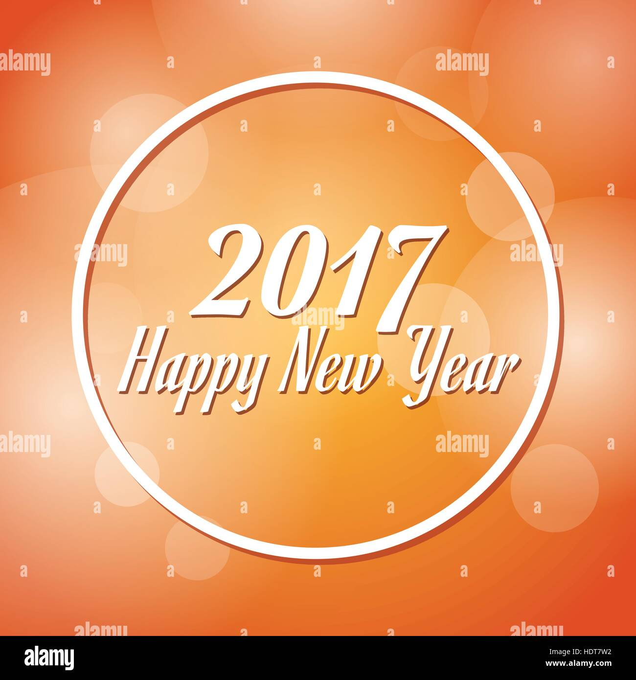 happy new year 2017 greeting card blurred background - Stock Vector