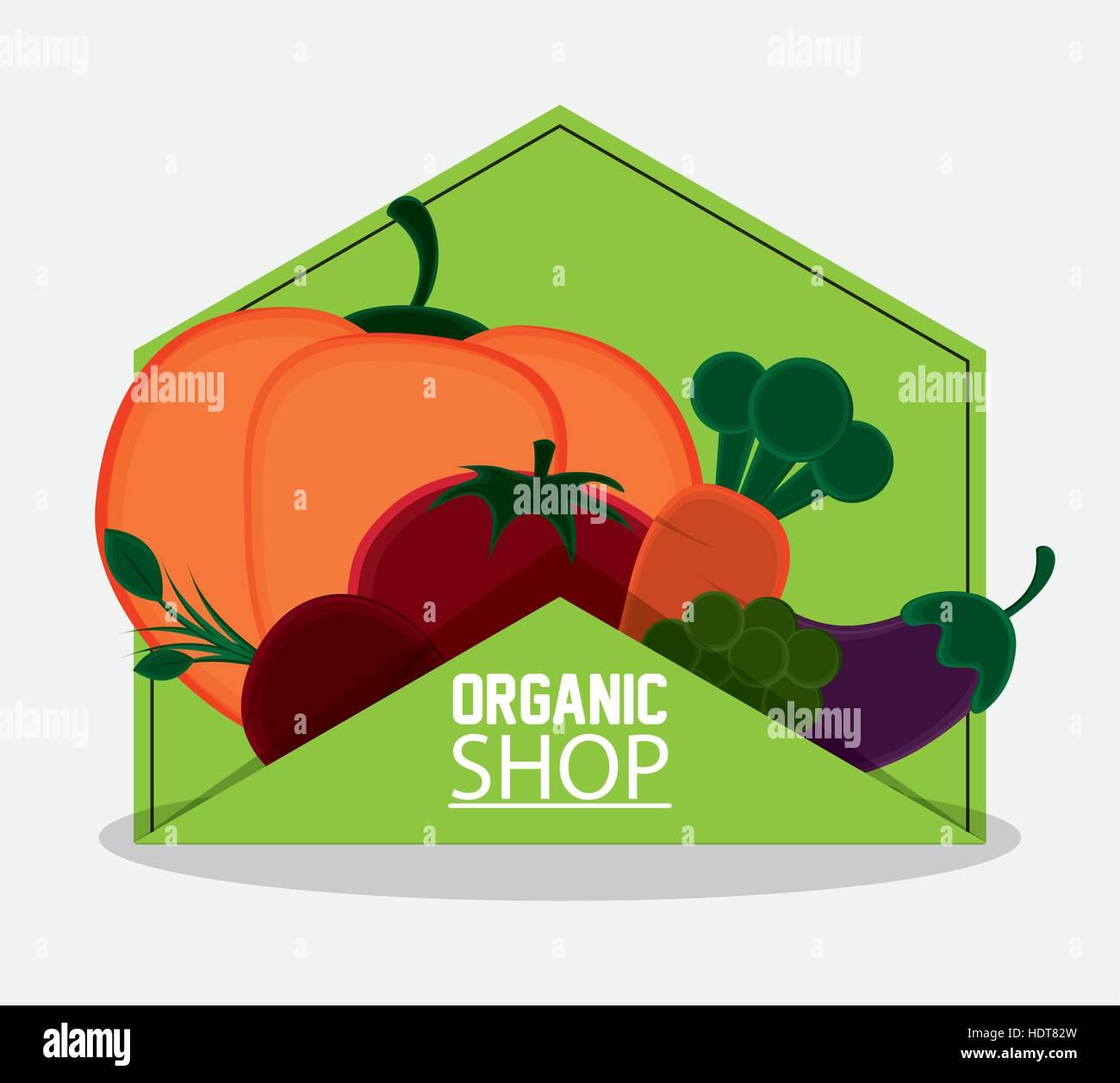 Organic Vegetables Shop Sign Stock Photos & Organic ...