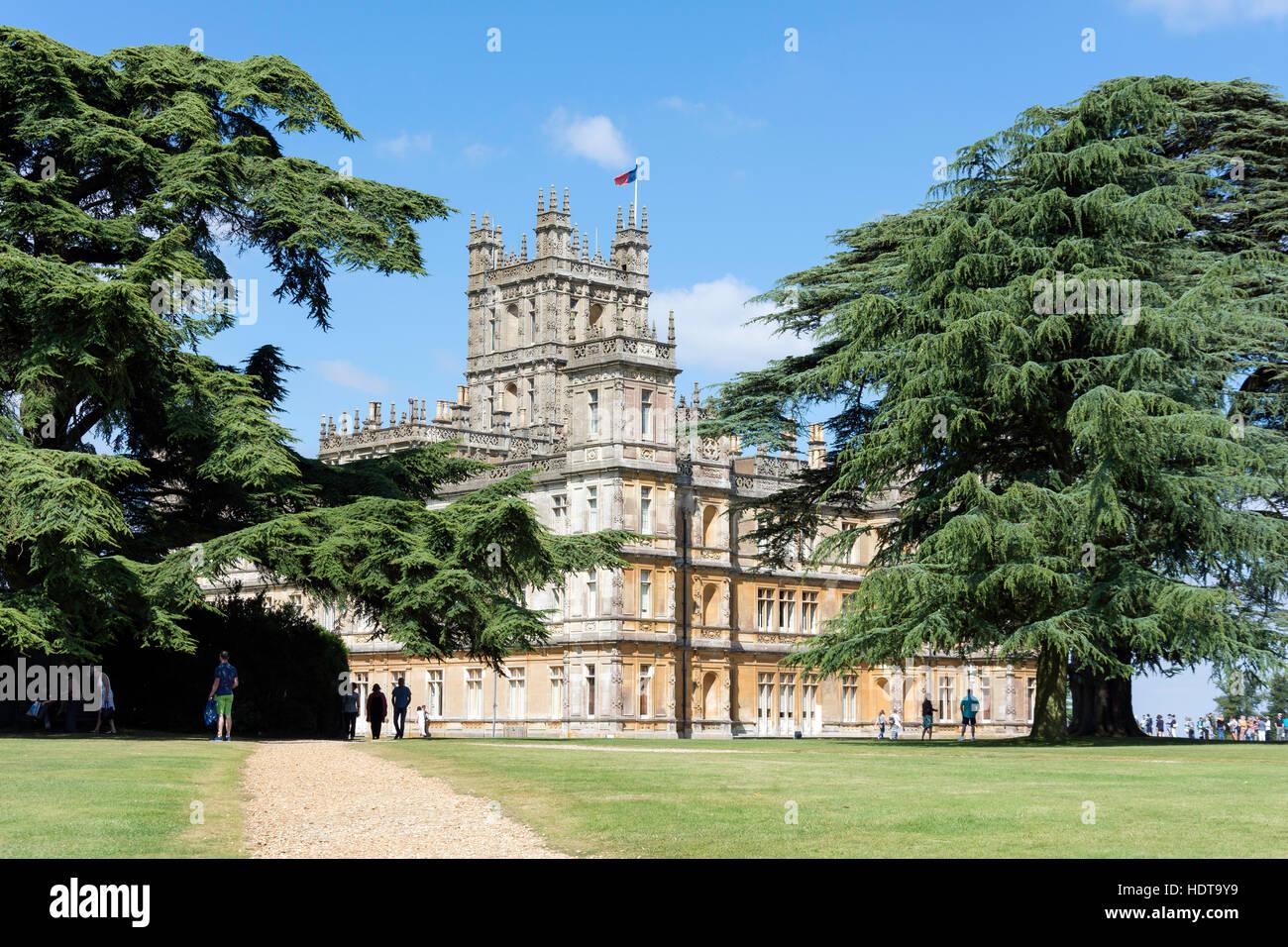 Highclere Castle (Downton Abbey TV series), Highclere, Hampshire, England, United Kingdom - Stock Image