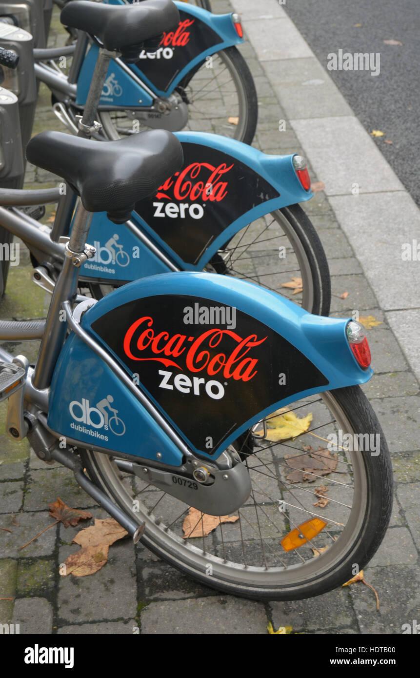 Bike hire scheme Dublin Ireland - Stock Image