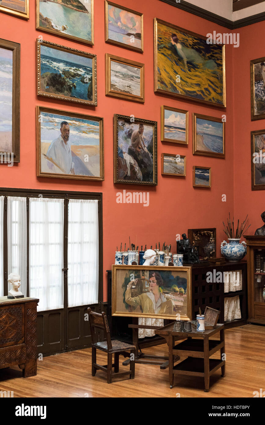 Museo Sorolla Madrid.Madrid Spain Museo Sorolla Museum Former Studio Of Spanish Stock