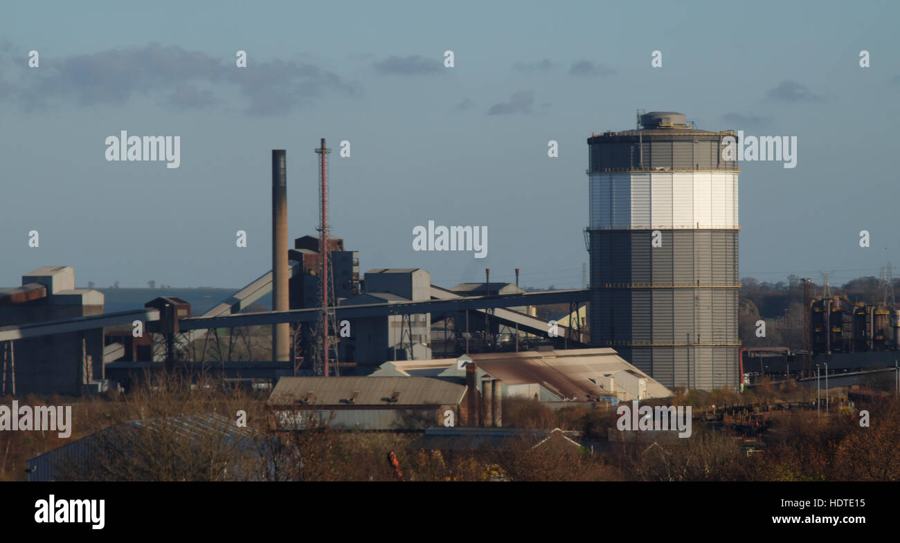Steelworks in Scunthorpe - ore preparation plant. Stock Photo