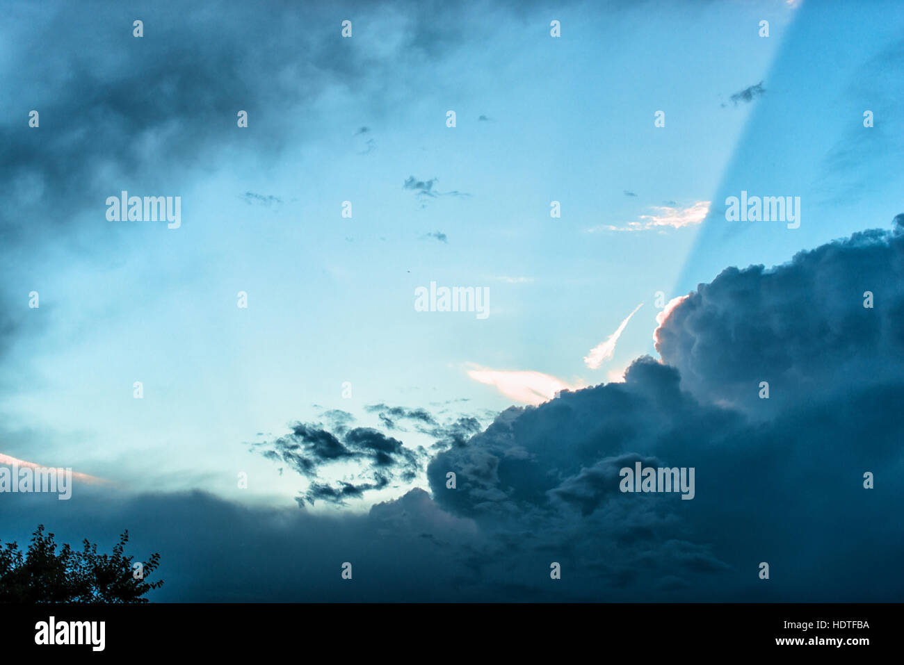 Dramatic clouds - Stock Image