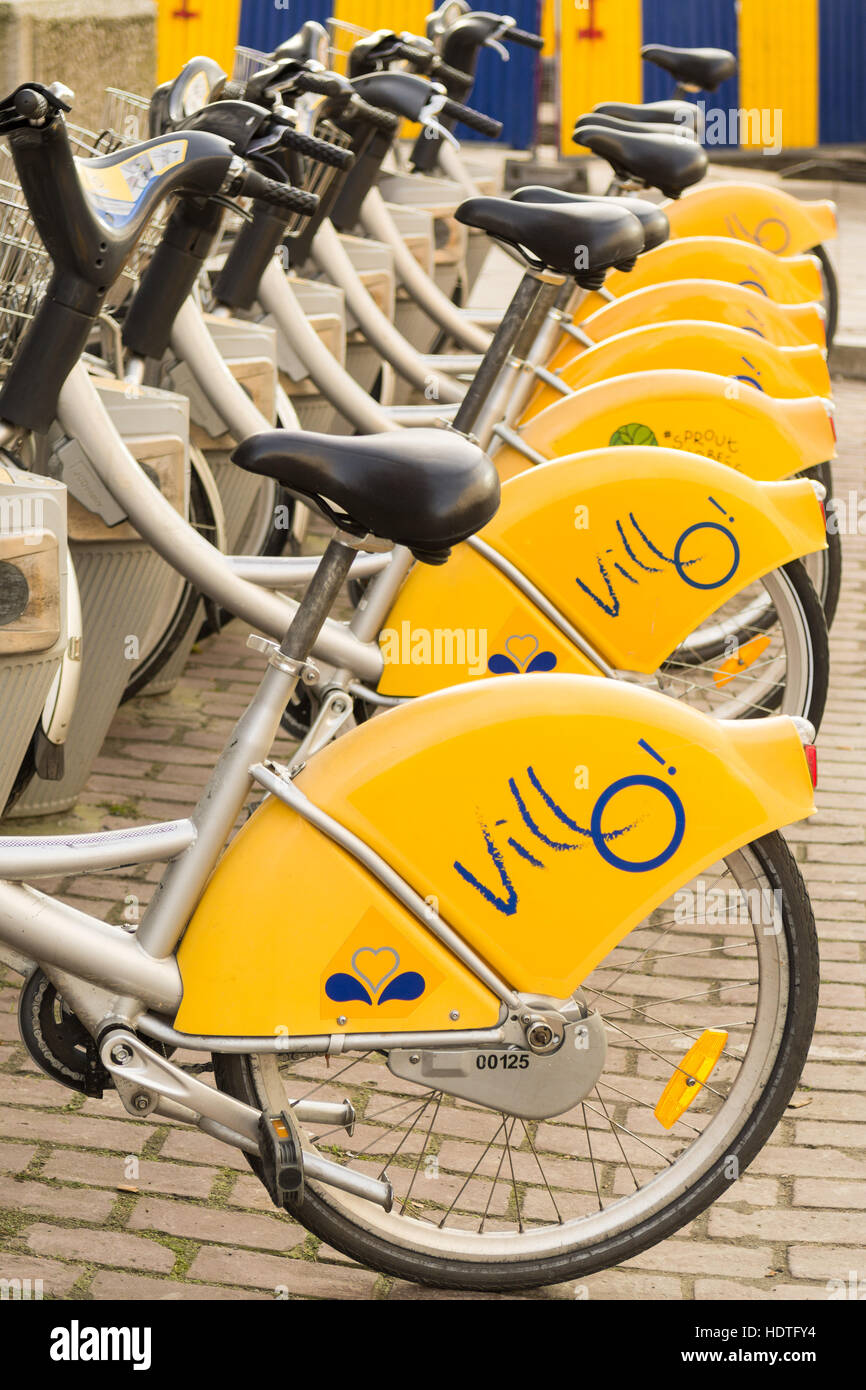 Brussels rental bikes - Stock Image