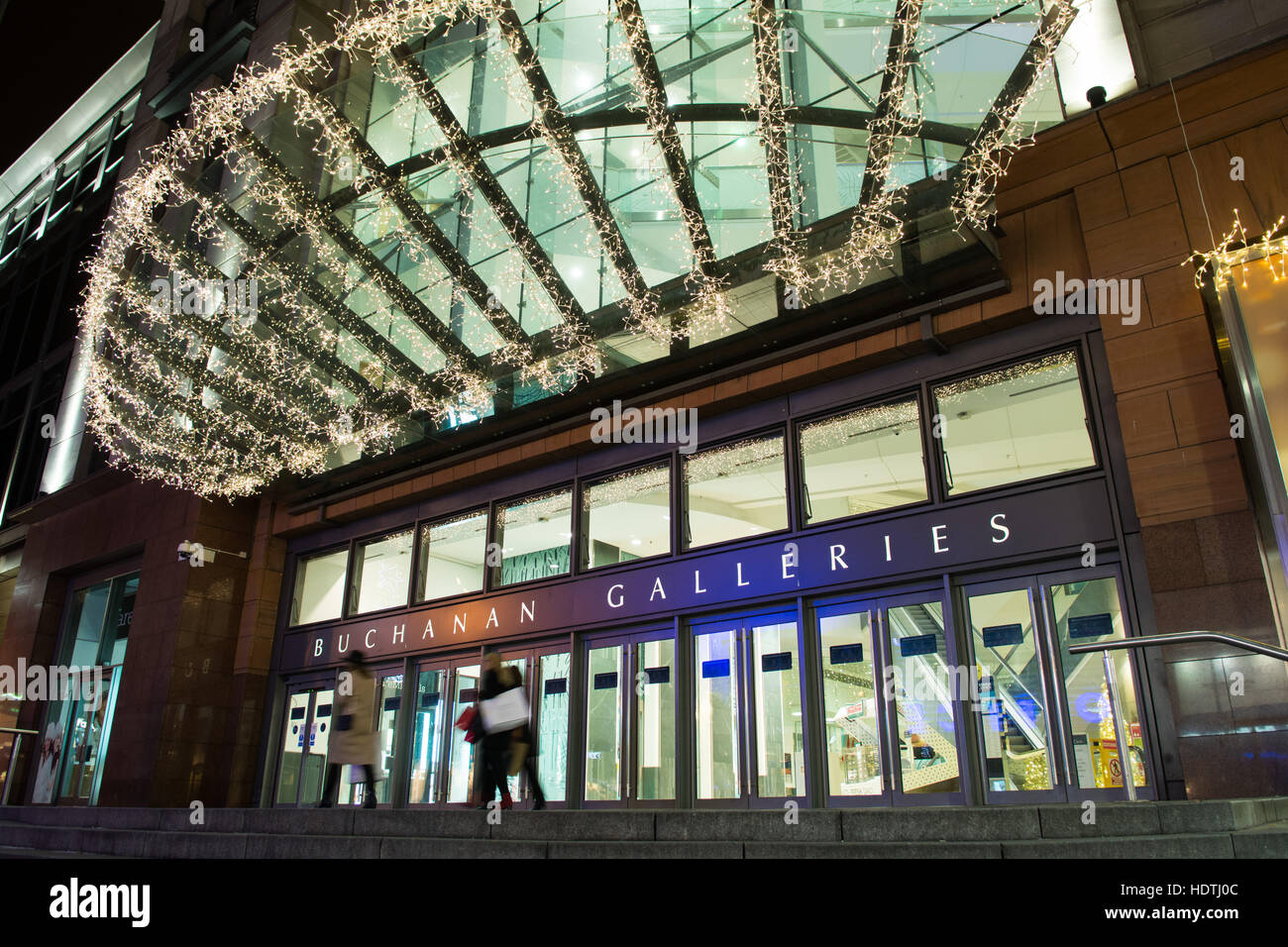 Buchanan Galleries shopping centre, Glasgow, Scotland at christmas - Stock Image