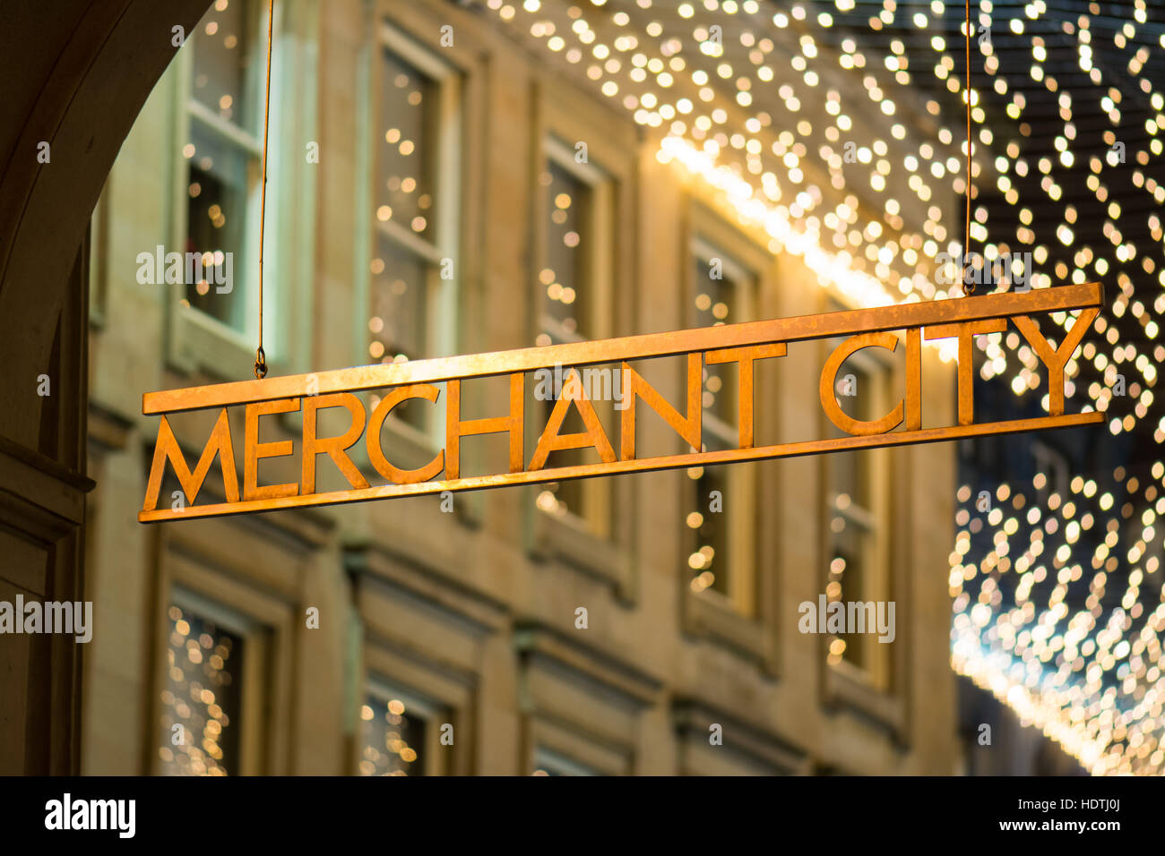 Merchant City - Glasgow - Stock Image