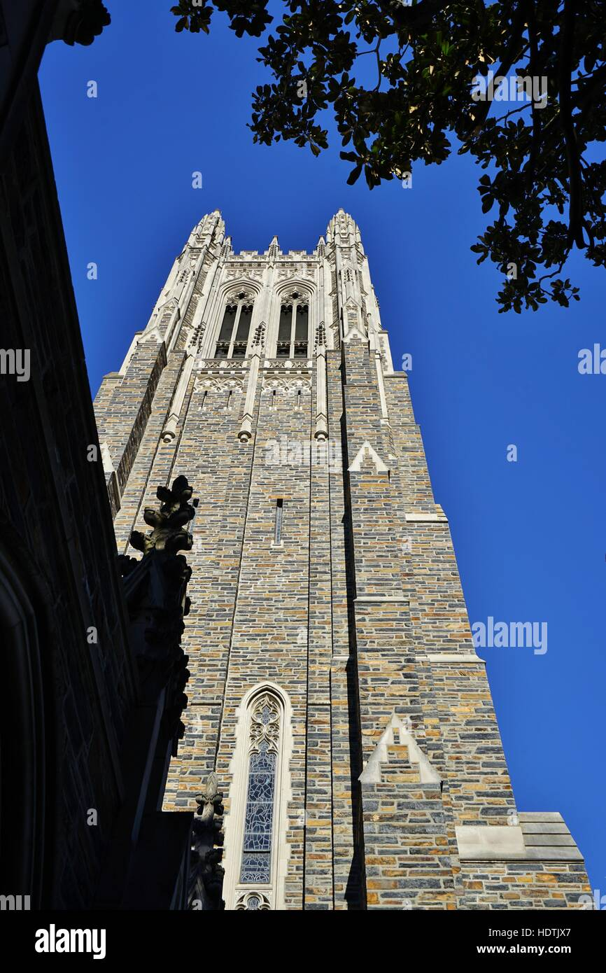 View of the campus of Duke University, a private research university located in Durham, North Carolina - Stock Image