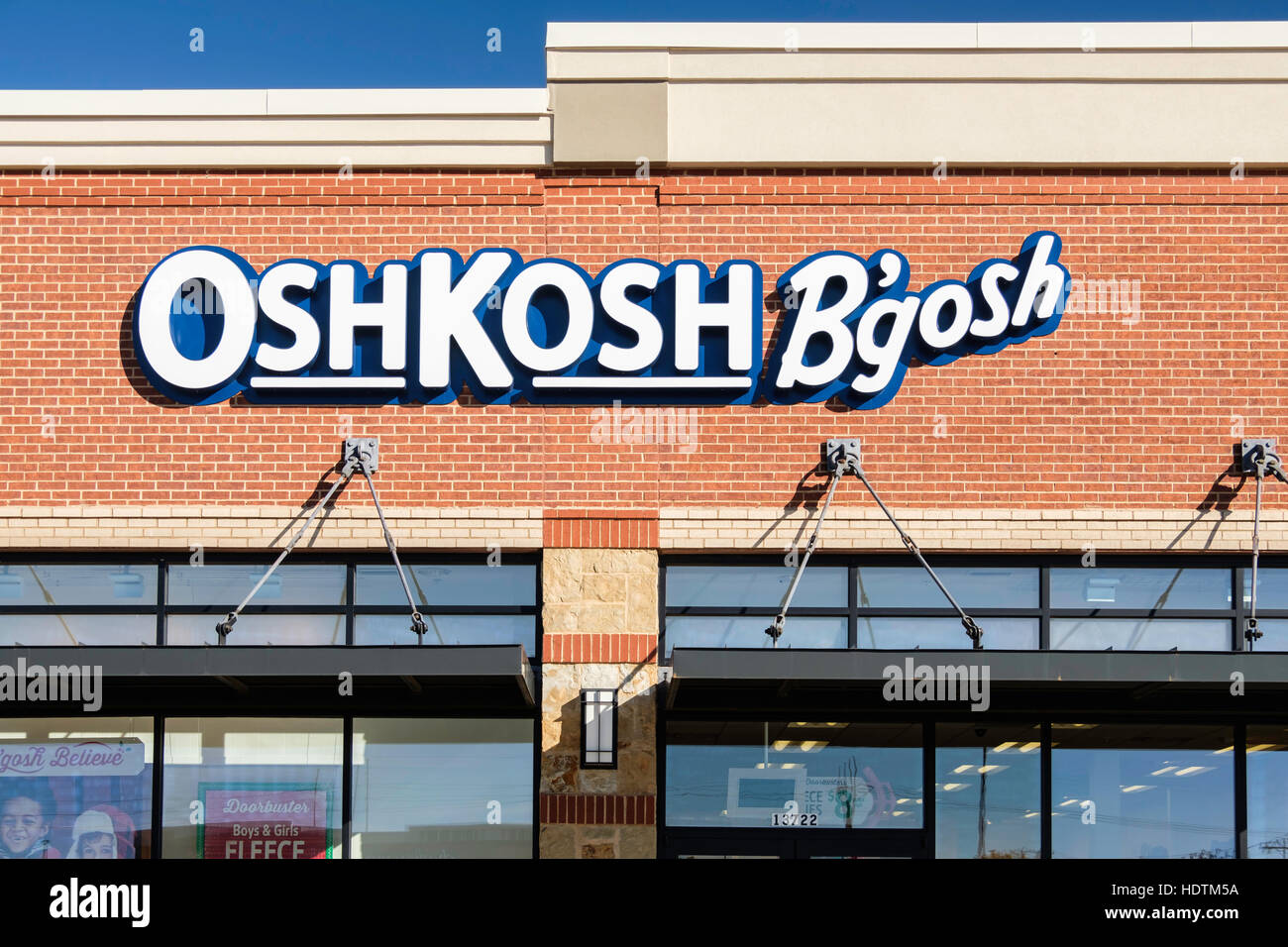 The exterior of an OshKosh B'gosh children's clothing store located Memorial Rd., Oklahoma City, Oklahoma, - Stock Image