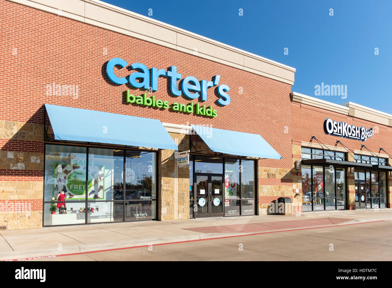 Exterior Storefront And Entrances Of Carter S Babies And Kids Stock